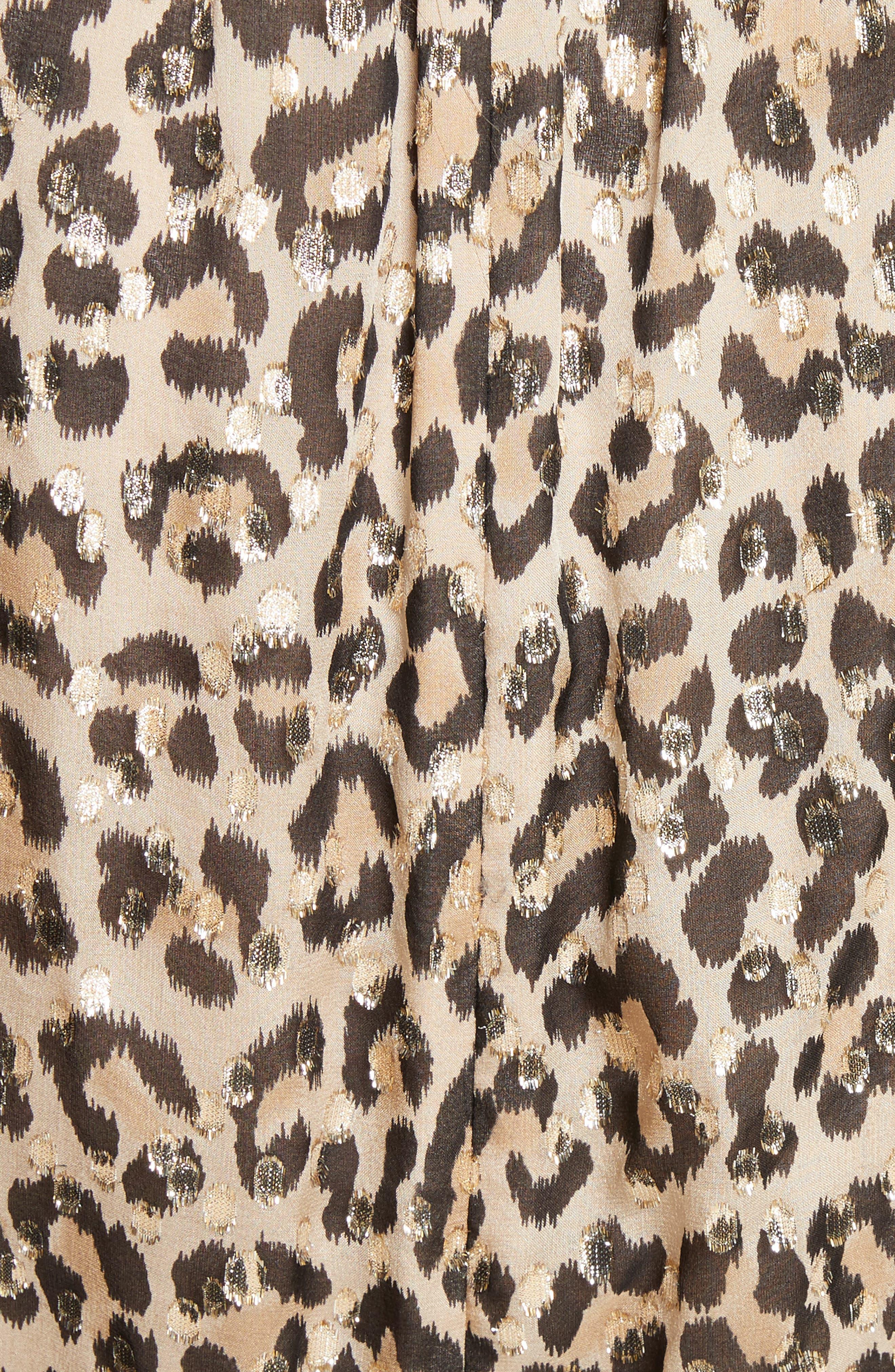 leopard clip dot minidress,                             Alternate thumbnail 5, color,