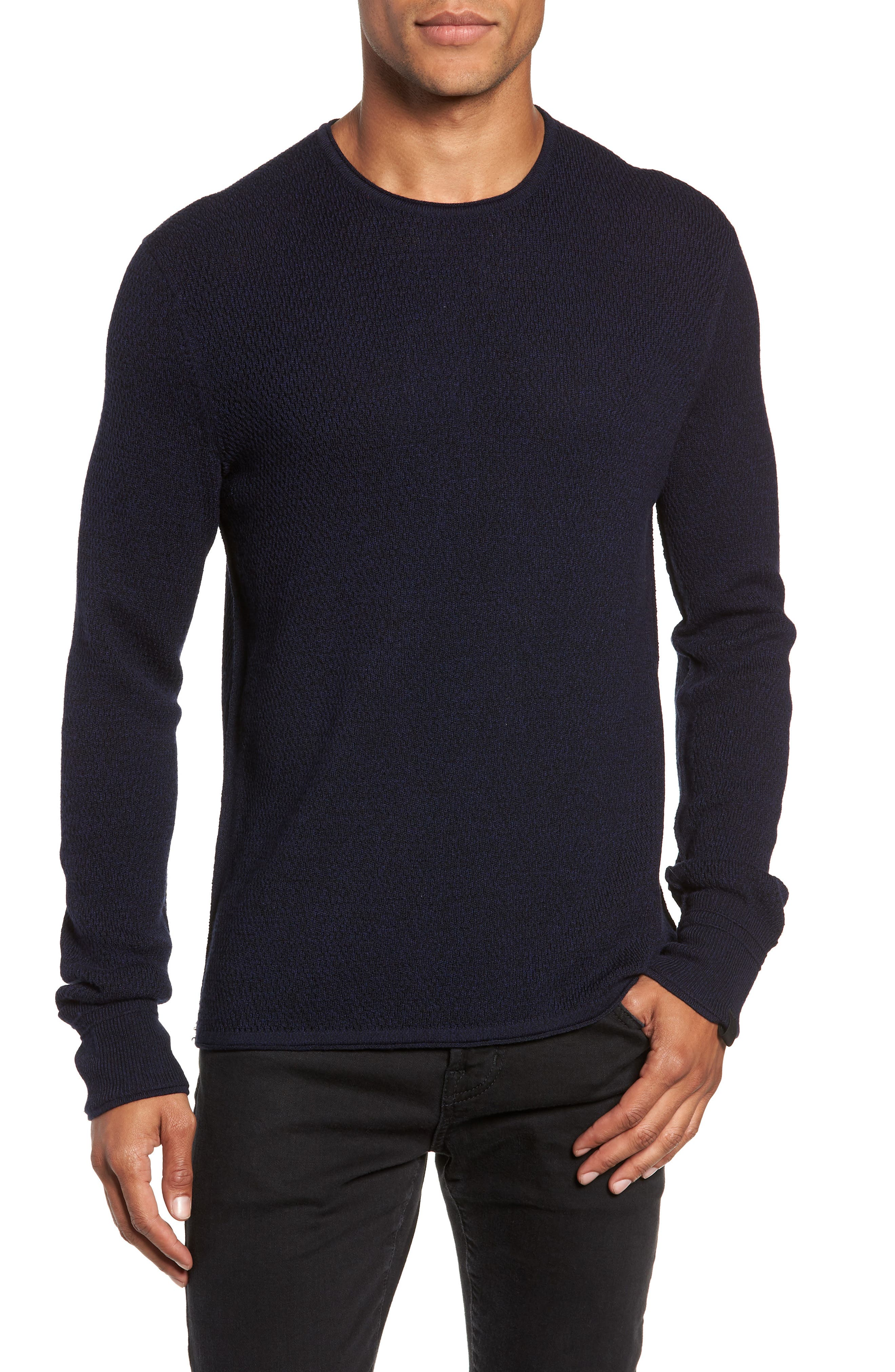 Gregory Wool Blend Crewneck Sweater,                             Main thumbnail 1, color,                             NAVY