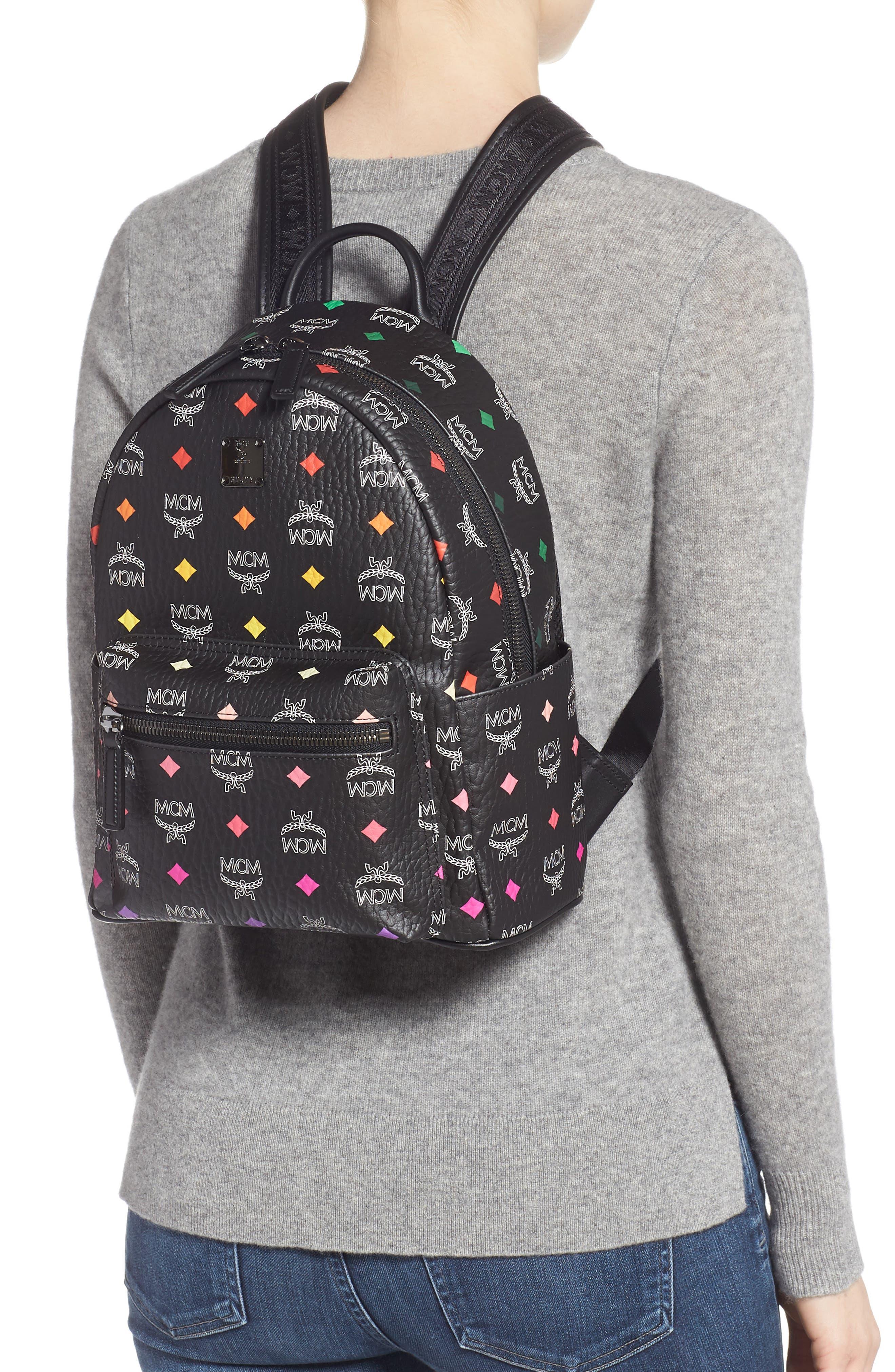MCM,                             Small Stark Spektrum Backpack,                             Alternate thumbnail 2, color,                             SPECTRUM DIAMOND BLACK