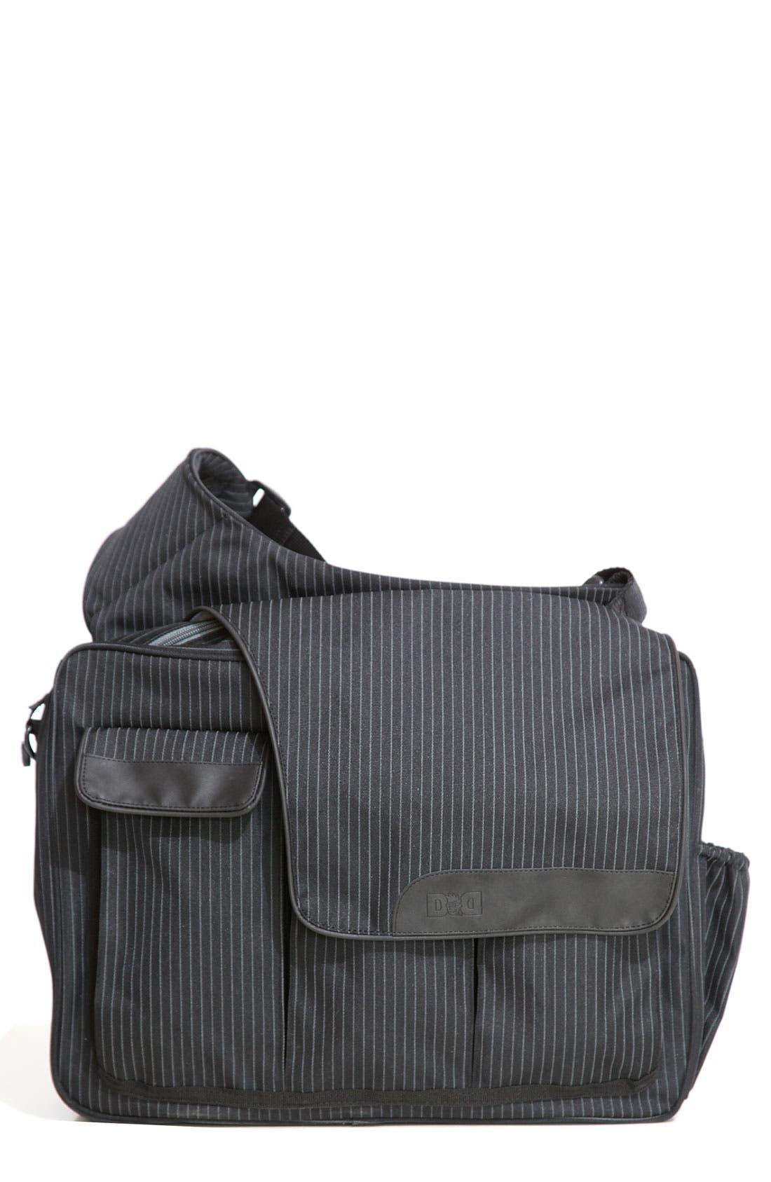 DIAPER DUDE 'Messenger II' Diaper Bag, Main, color, 001