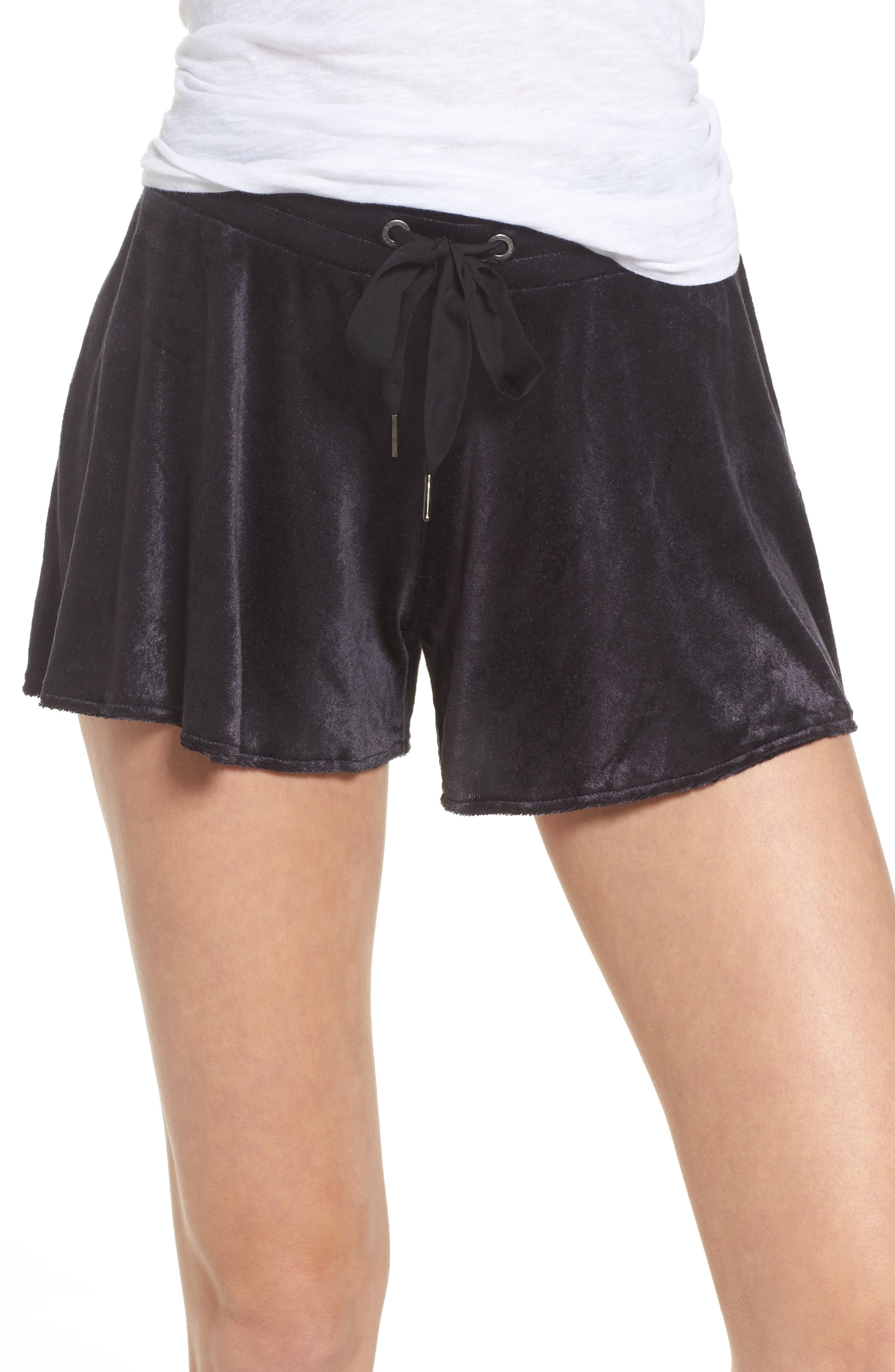 Paris Velour Lounge Shorts,                         Main,                         color,