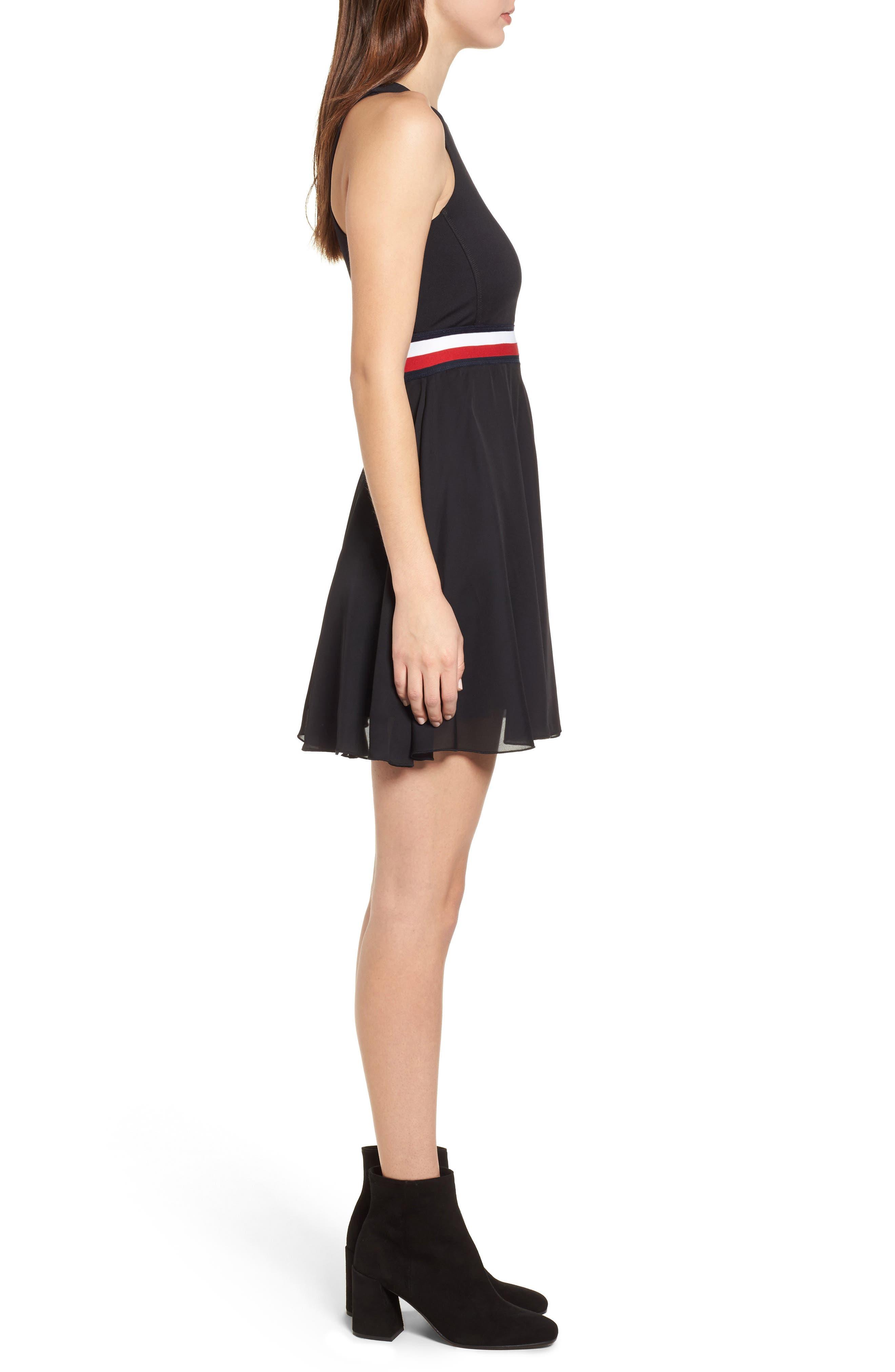 x Gigi Hadid Racerback Dress,                             Alternate thumbnail 3, color,                             001