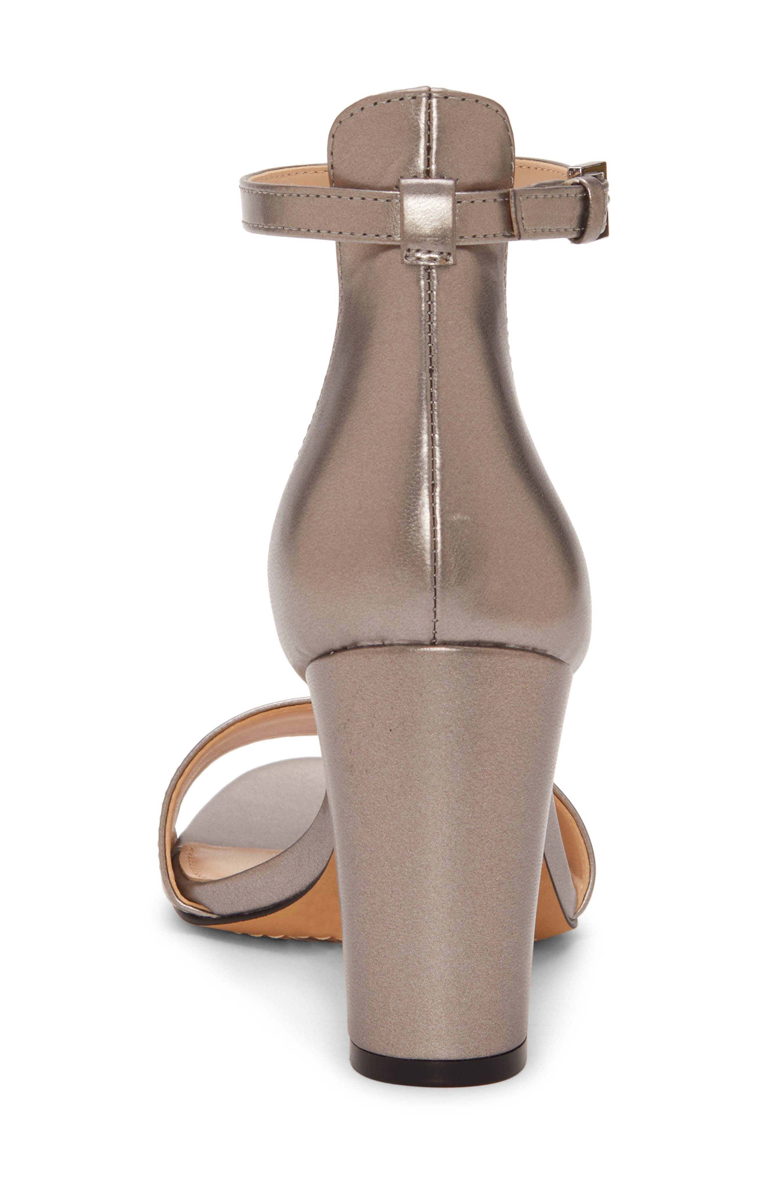 VINCE CAMUTO,                             Corlina Ankle Strap Sandal,                             Alternate thumbnail 7, color,                             METAL GREY