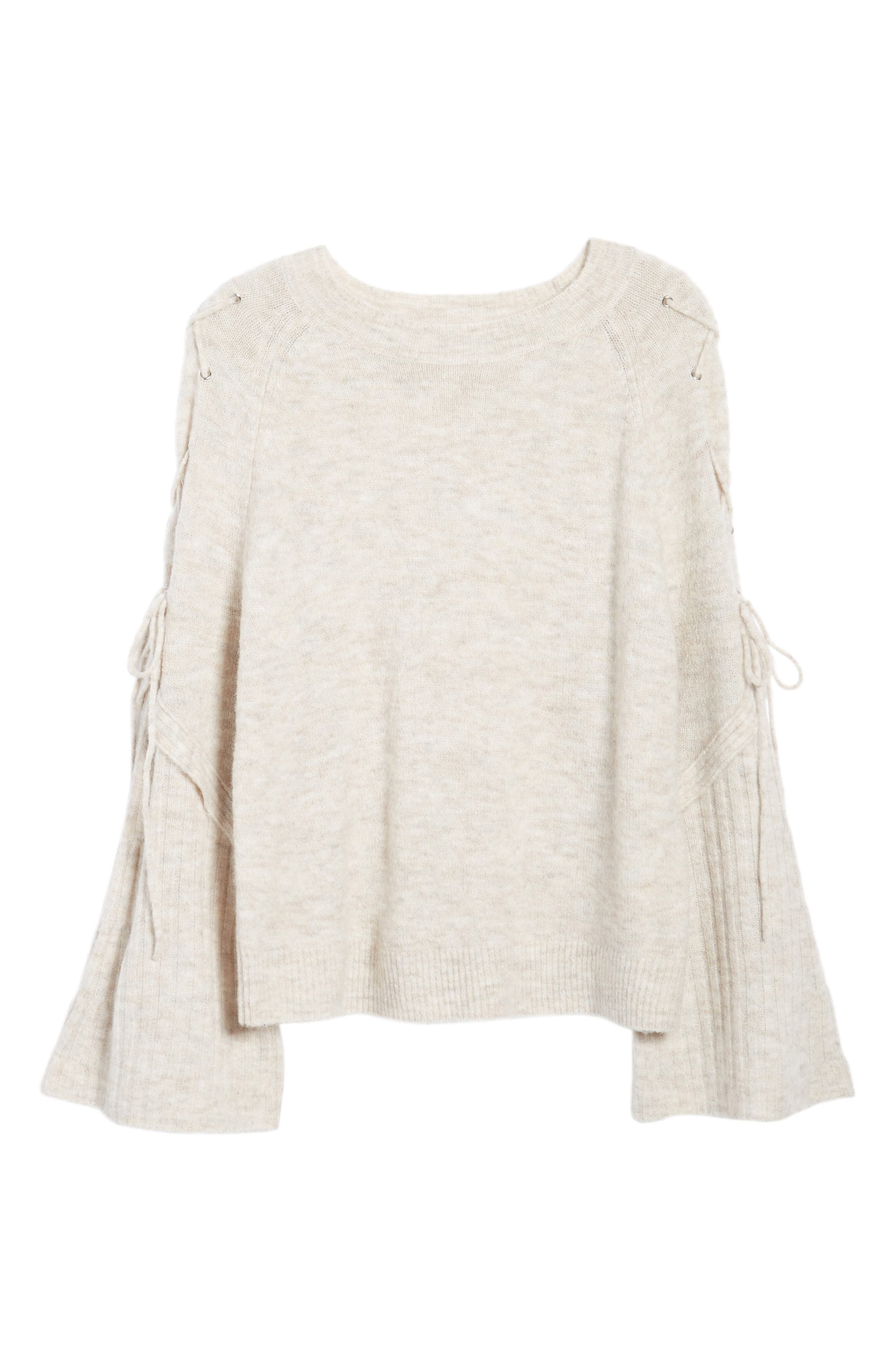 Lace Up Shoulder Sweater,                             Alternate thumbnail 6, color,                             260