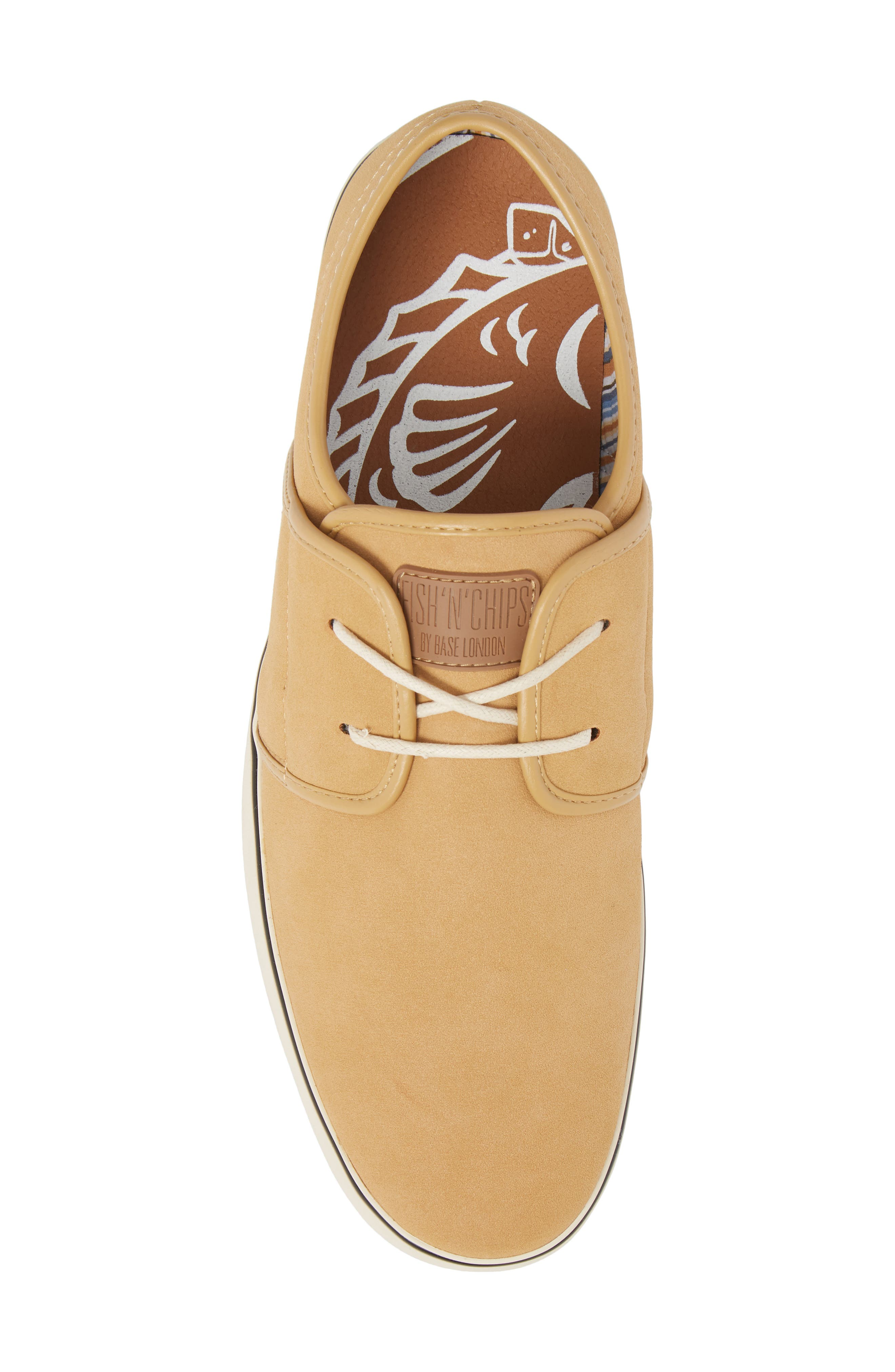 Fish 'N' Chips Surrey Low Top Sneaker,                             Alternate thumbnail 5, color,                             SOFT BROWN FAUX SUEDE
