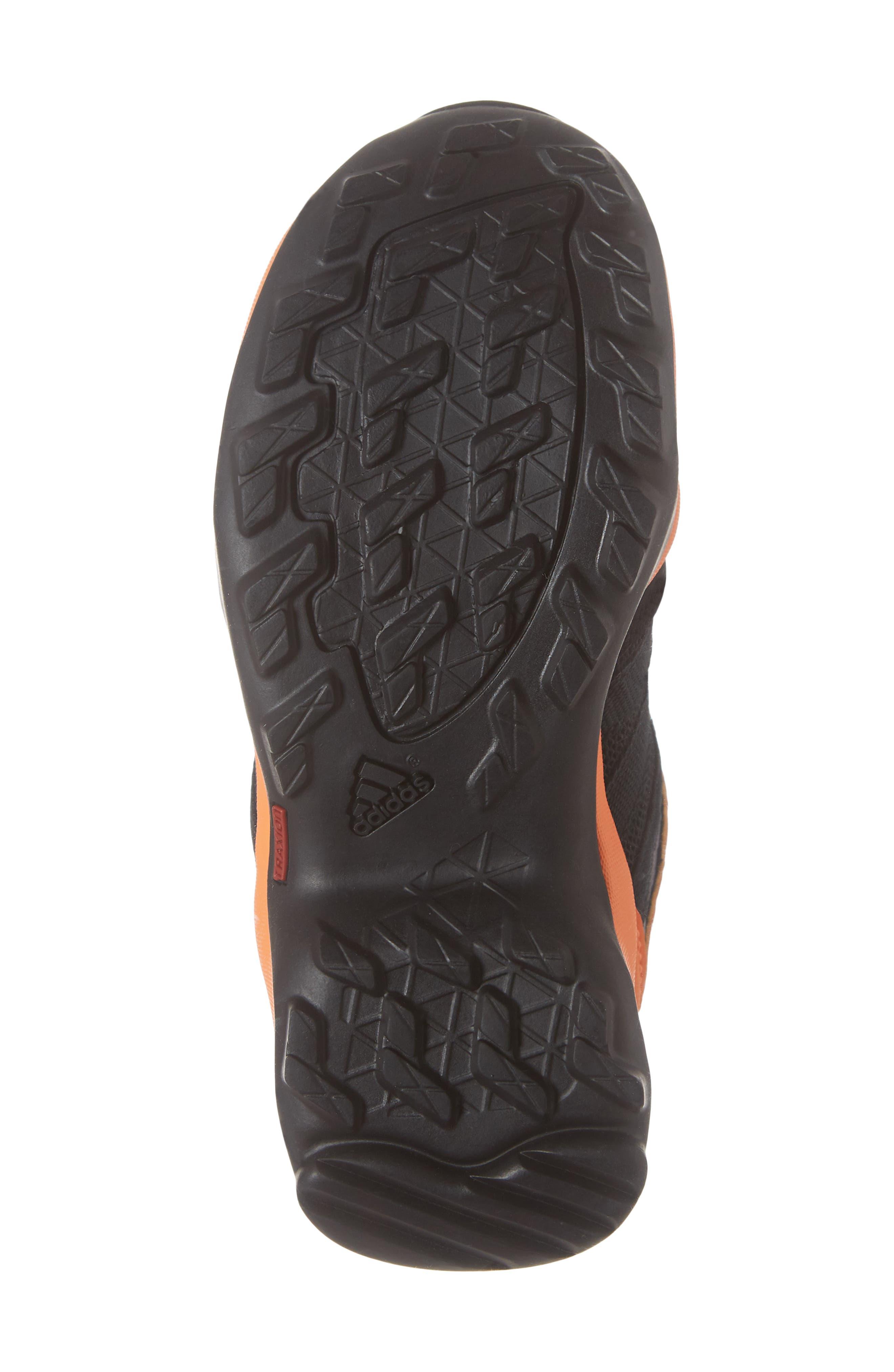 Terrex AX2R Mid Sneaker,                             Alternate thumbnail 6, color,                             BLACK/ BLACK/ HI-RES ORANGE