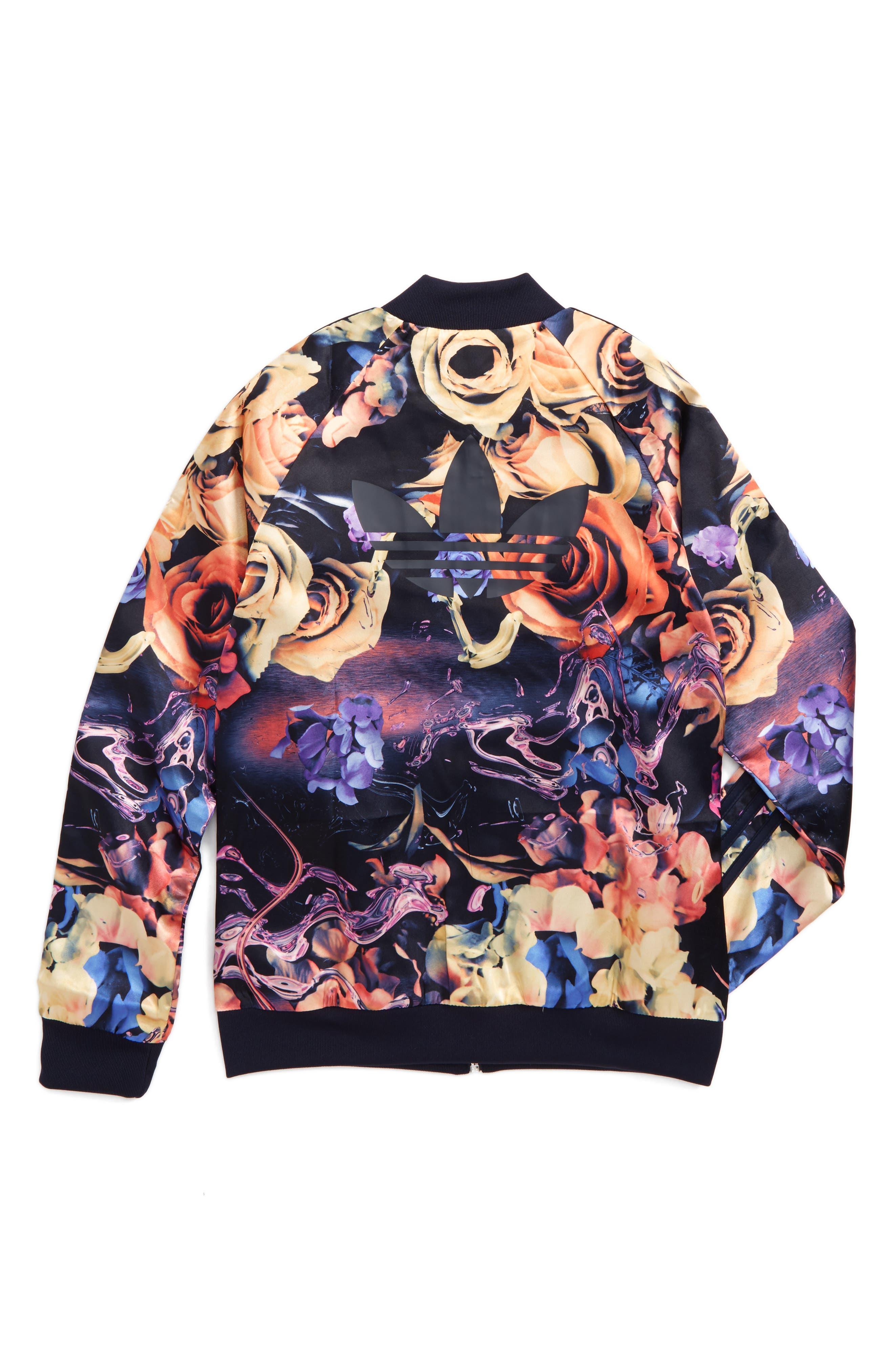 Rose Print Superstar Jacket,                             Alternate thumbnail 2, color,                             001
