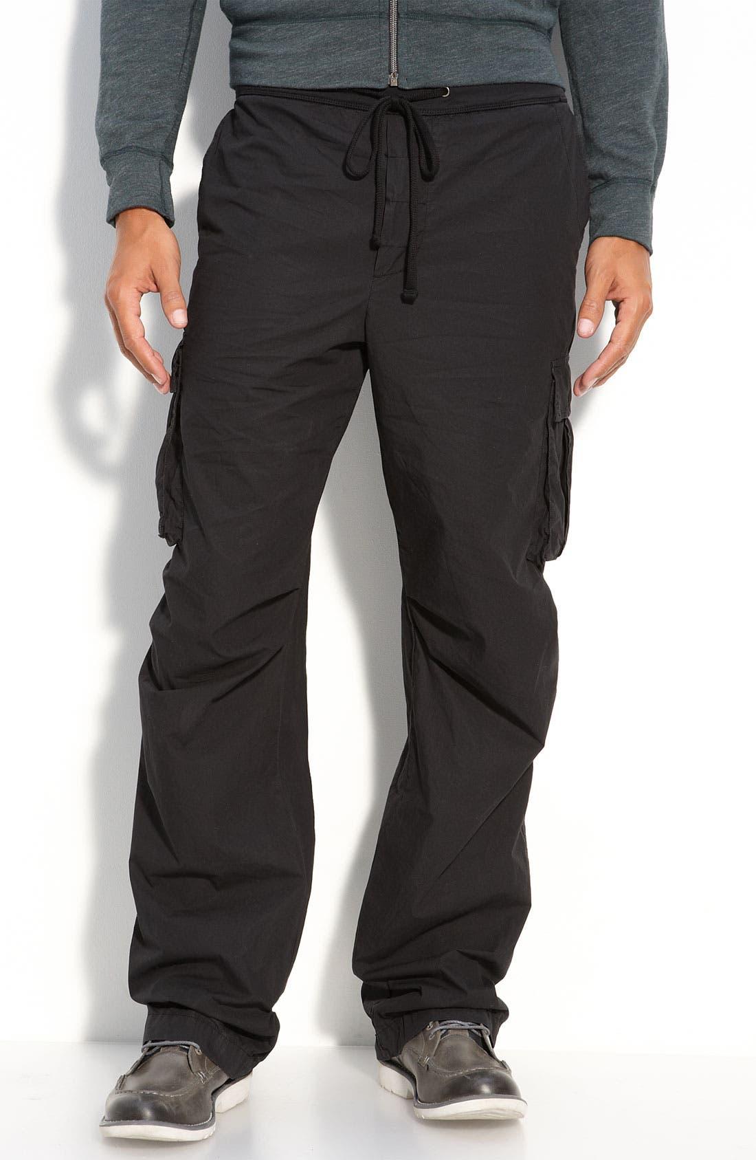 JAMES PERSE Drawstring Cargo Pants, Main, color, 004
