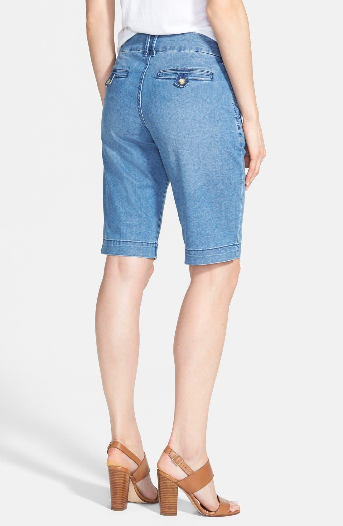'Trina' Denim Bermuda Shorts,                             Alternate thumbnail 3, color,                             420