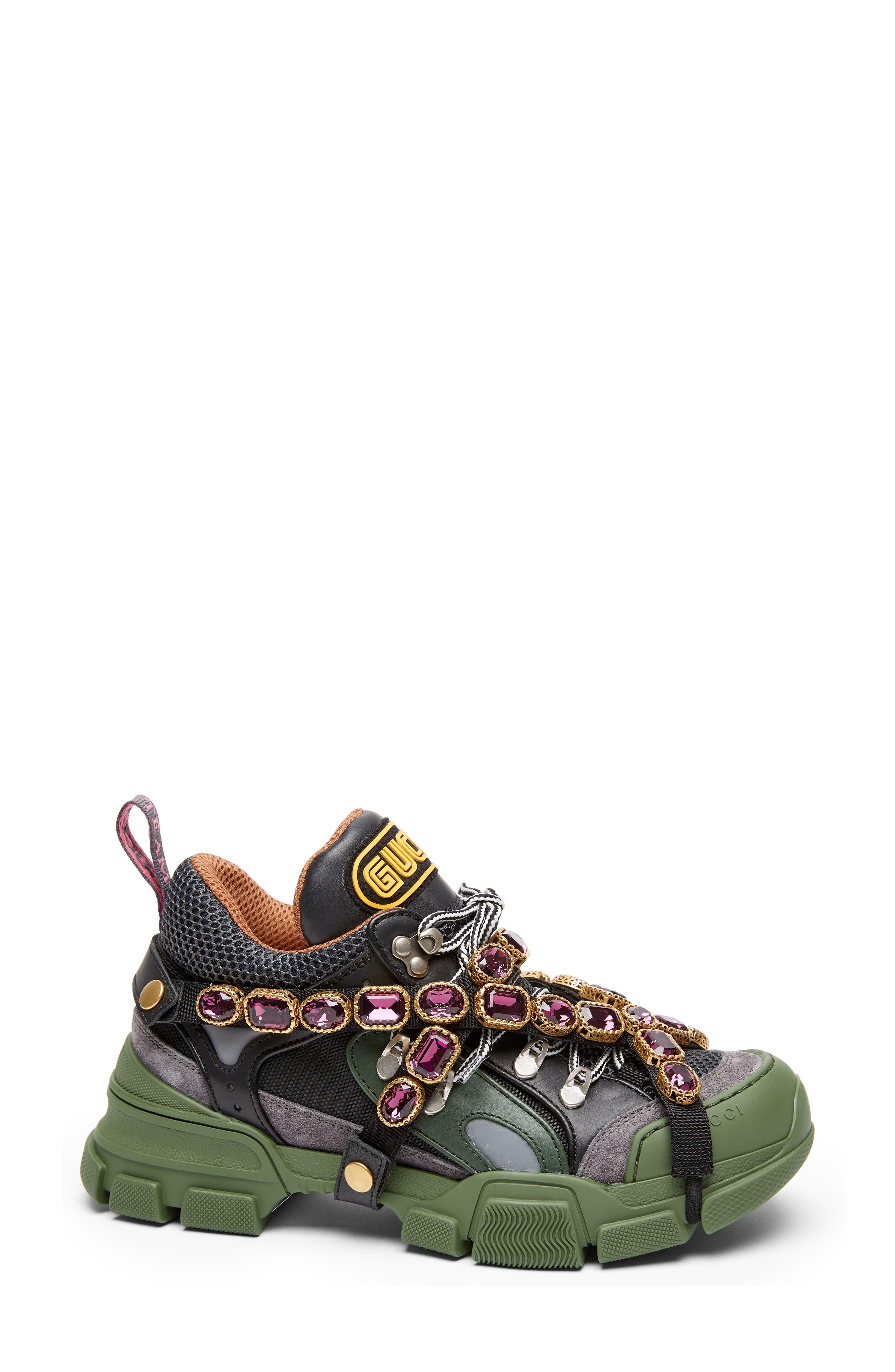 Flashtrek Jewel Sneaker,                         Main,                         color, GREEN/ GREY/ RED