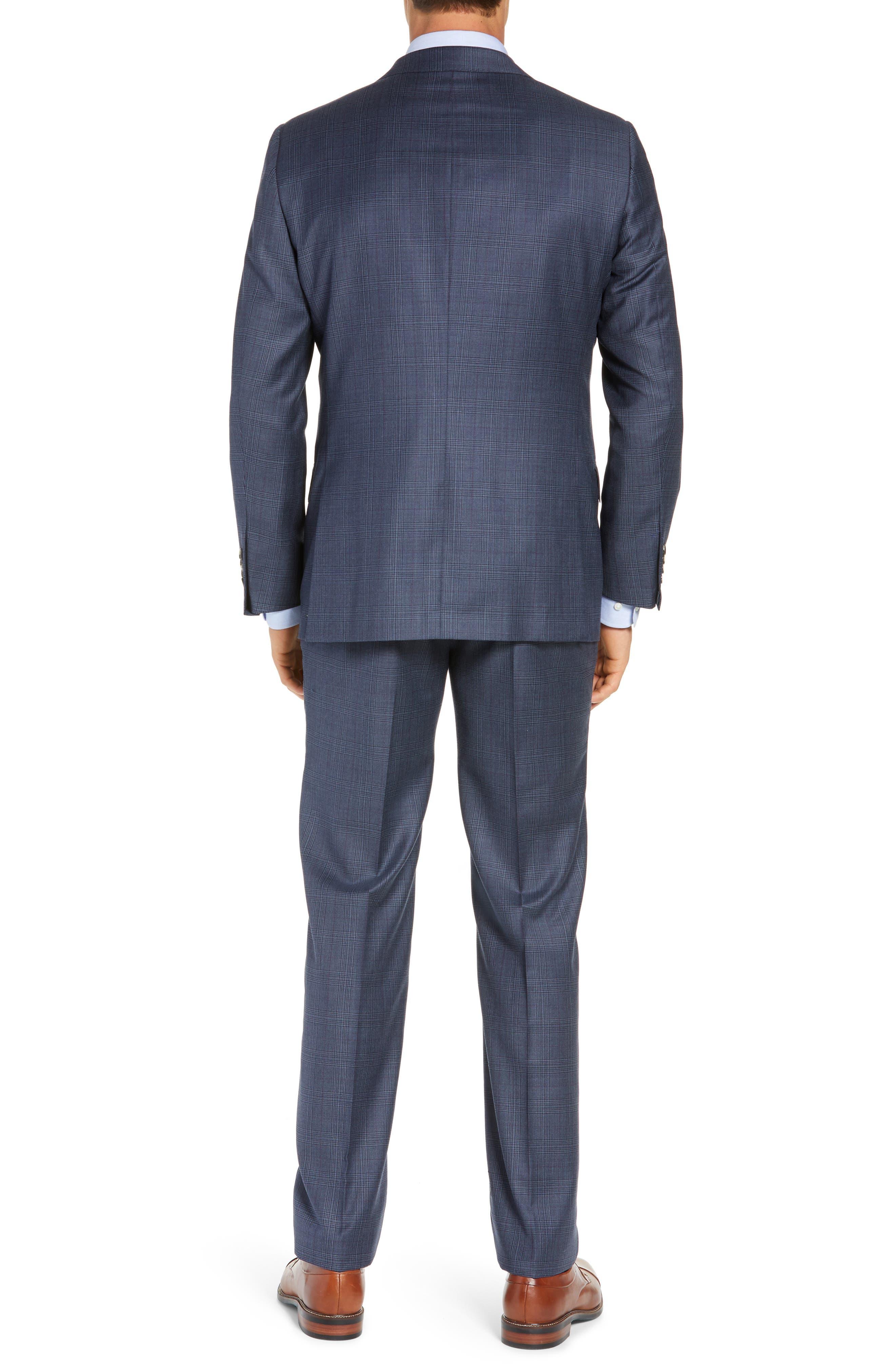 Classic Fit Plaid Wool Suit,                             Alternate thumbnail 2, color,                             GREY