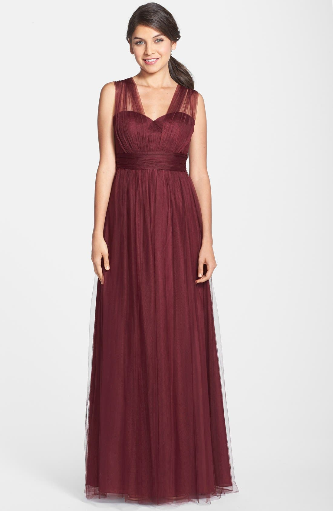 Annabelle Convertible Tulle Column Dress,                             Alternate thumbnail 92, color,