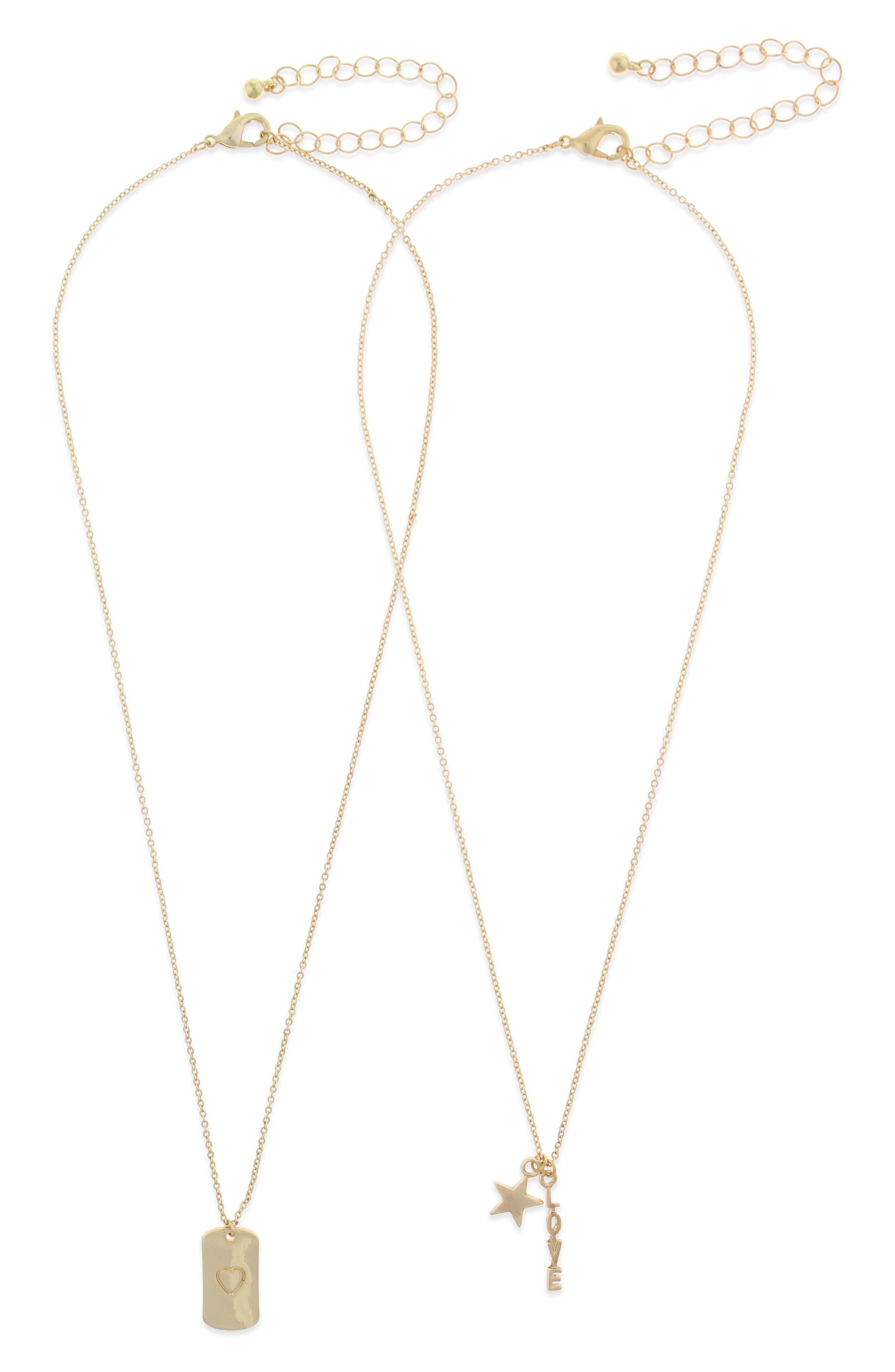 Set of 2 Pendant Necklaces,                             Main thumbnail 1, color,                             710