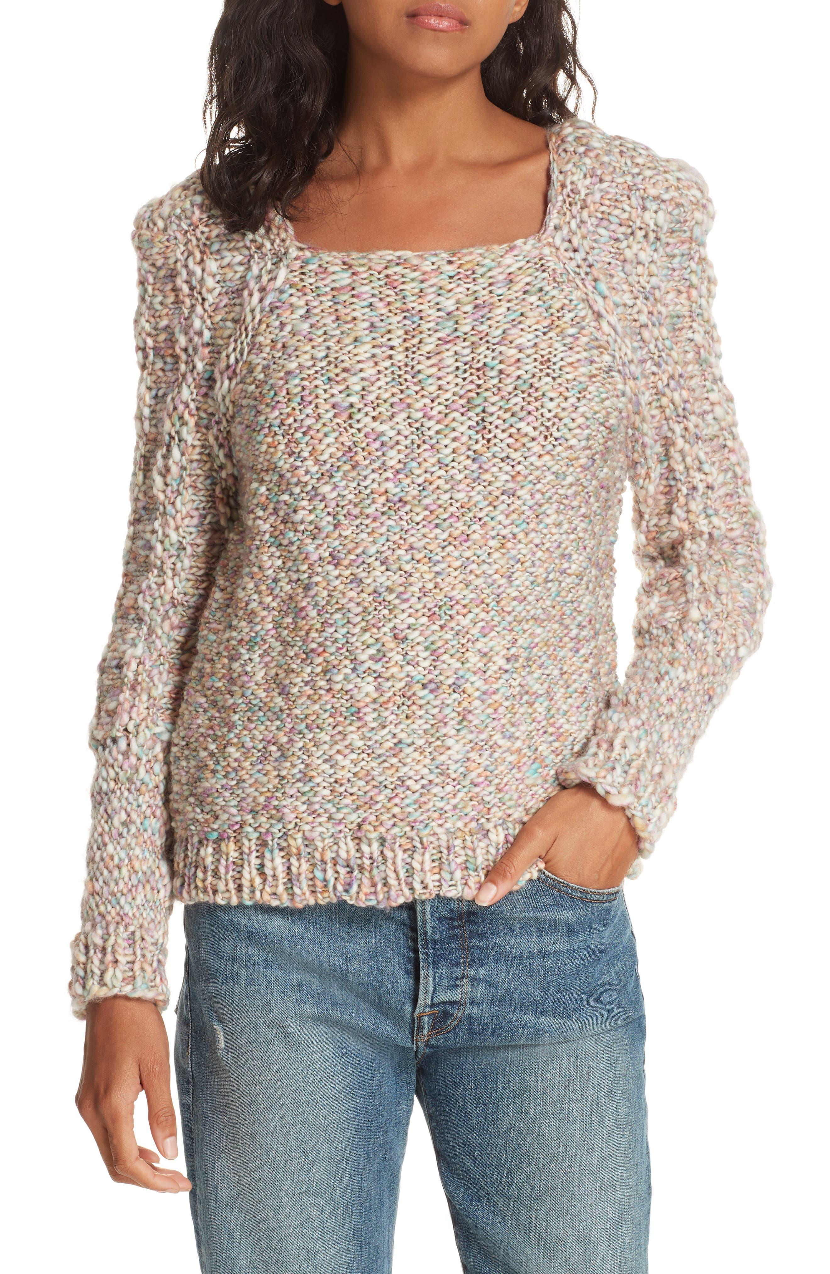 Joplin Wool Sweater,                             Main thumbnail 1, color,                             PASTEL MULTI