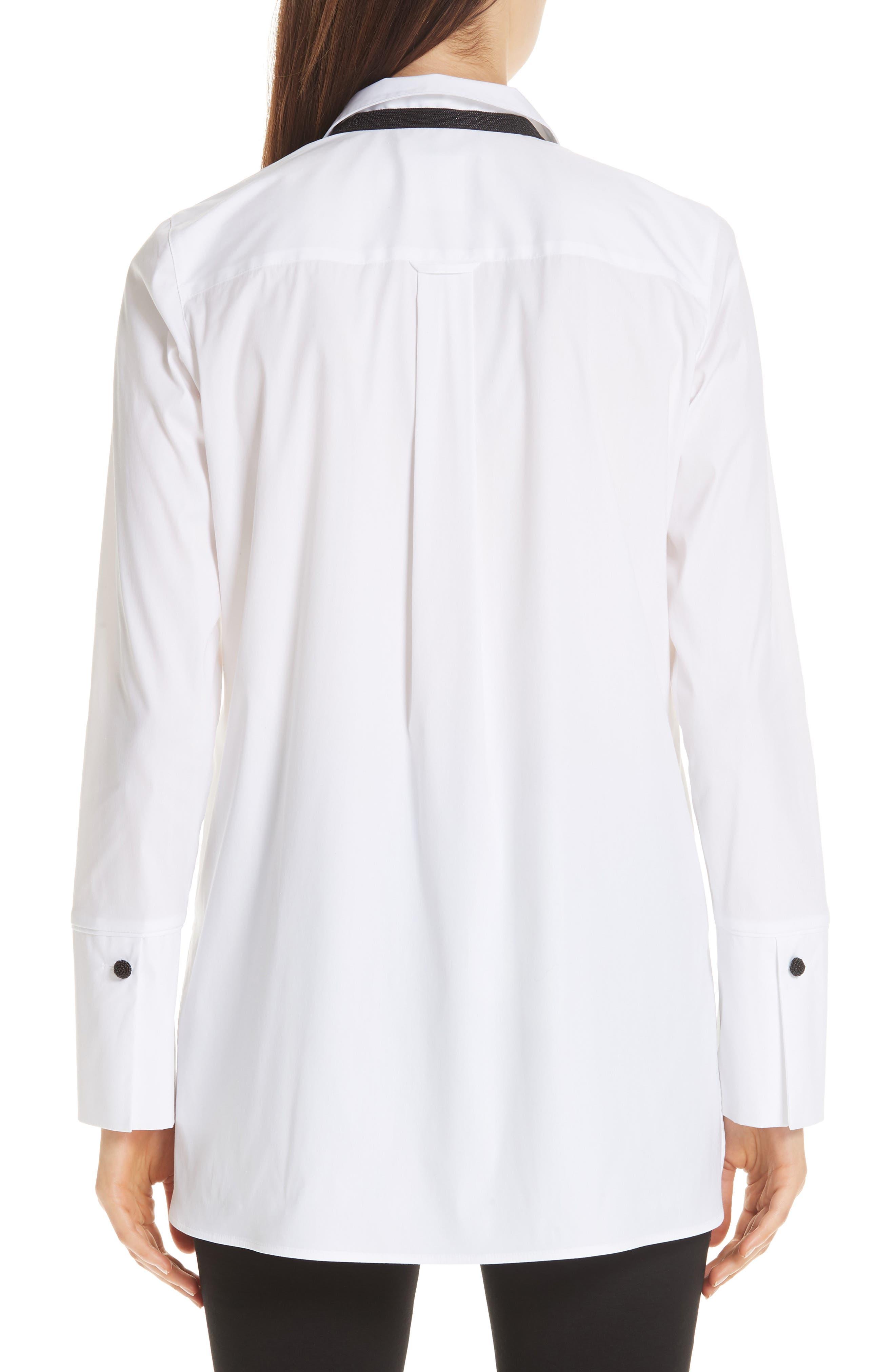 Annaliese Shirt,                             Alternate thumbnail 3, color,                             WHITE