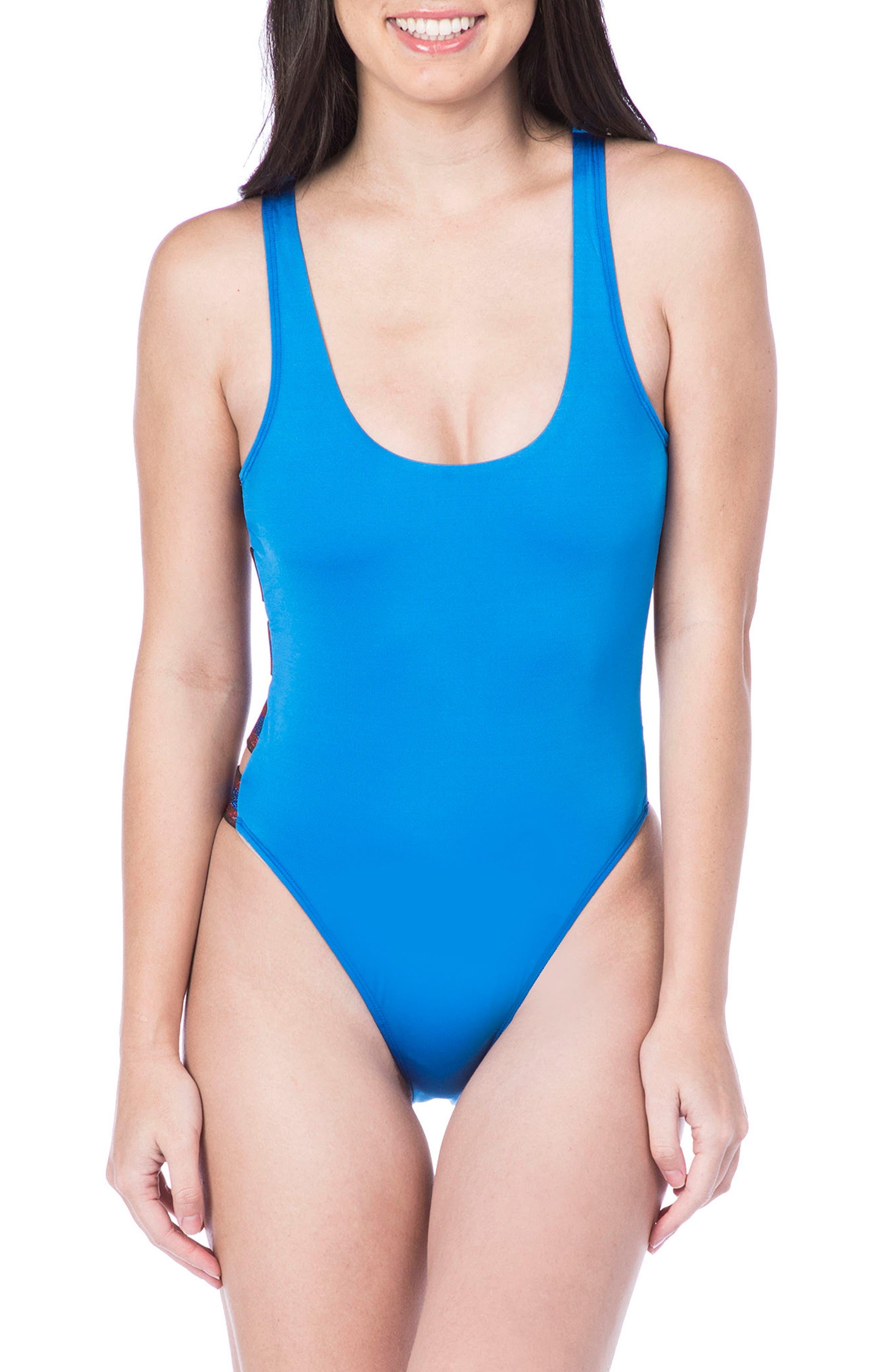 Route 66 One-Piece Swimsuit,                             Main thumbnail 1, color,                             408