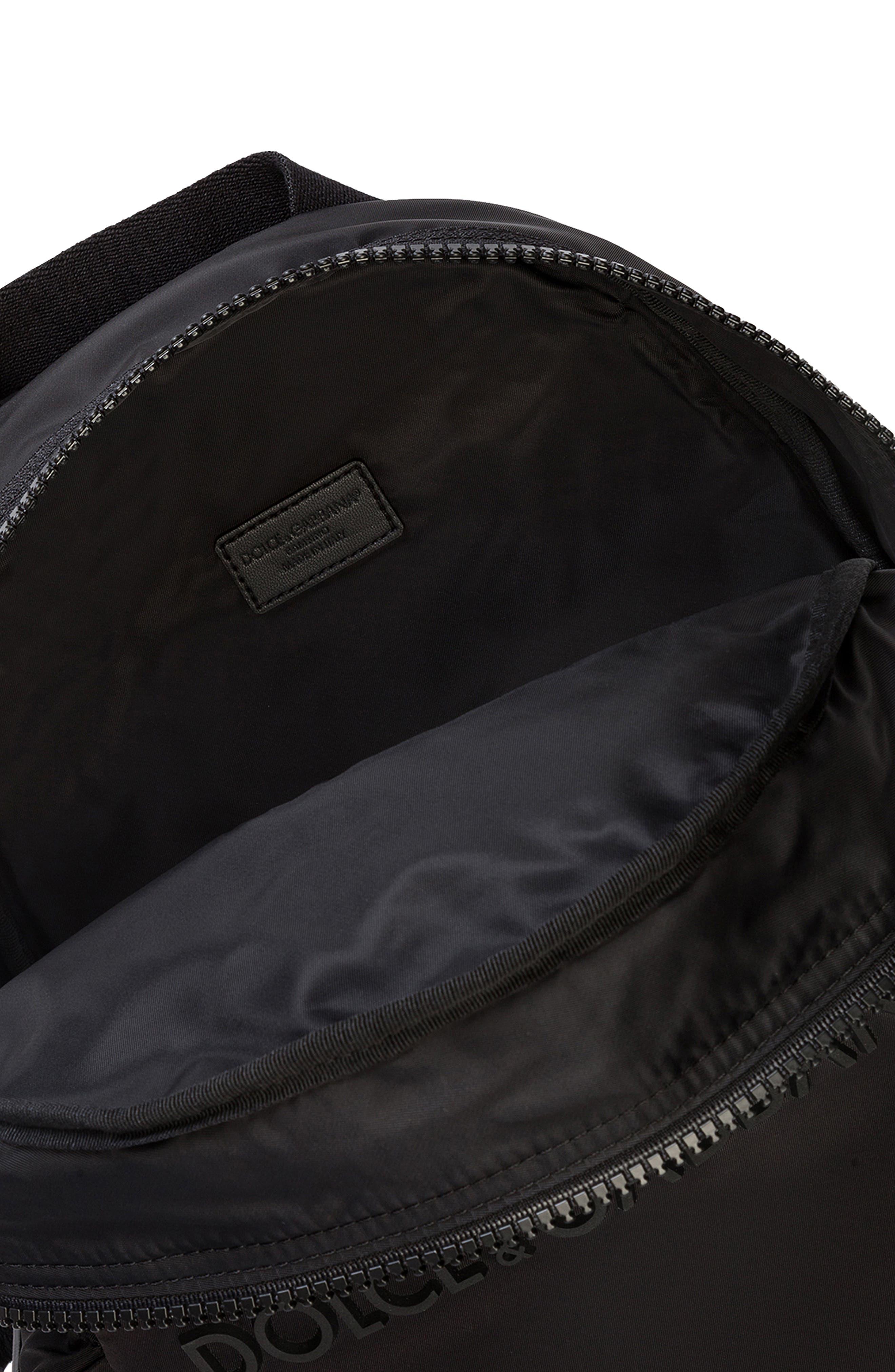 Zaino Nylon Backpack,                             Alternate thumbnail 3, color,                             NERO/ NERO
