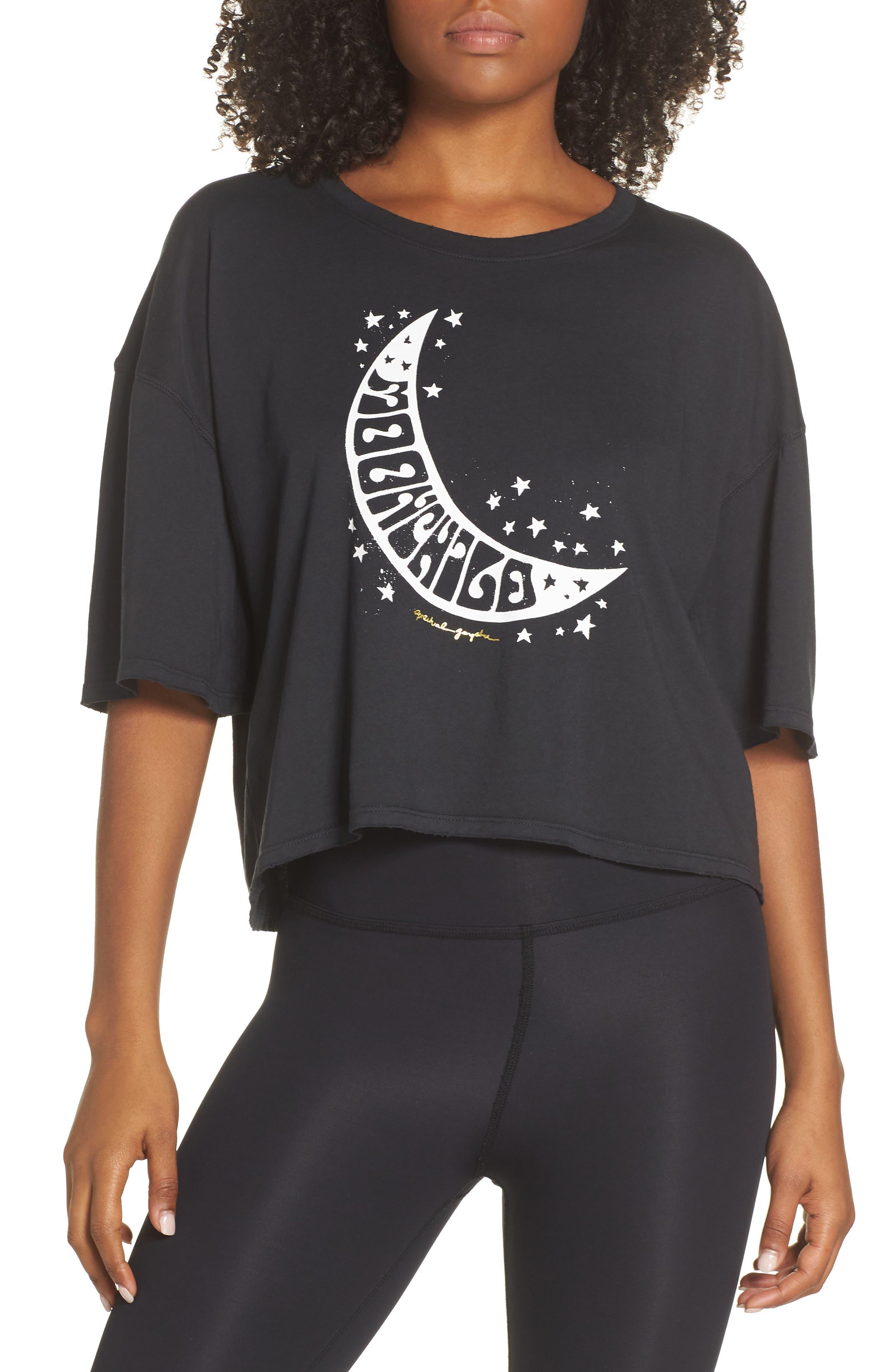Spiritual Gangster Moonchild Graphic Tee, Black