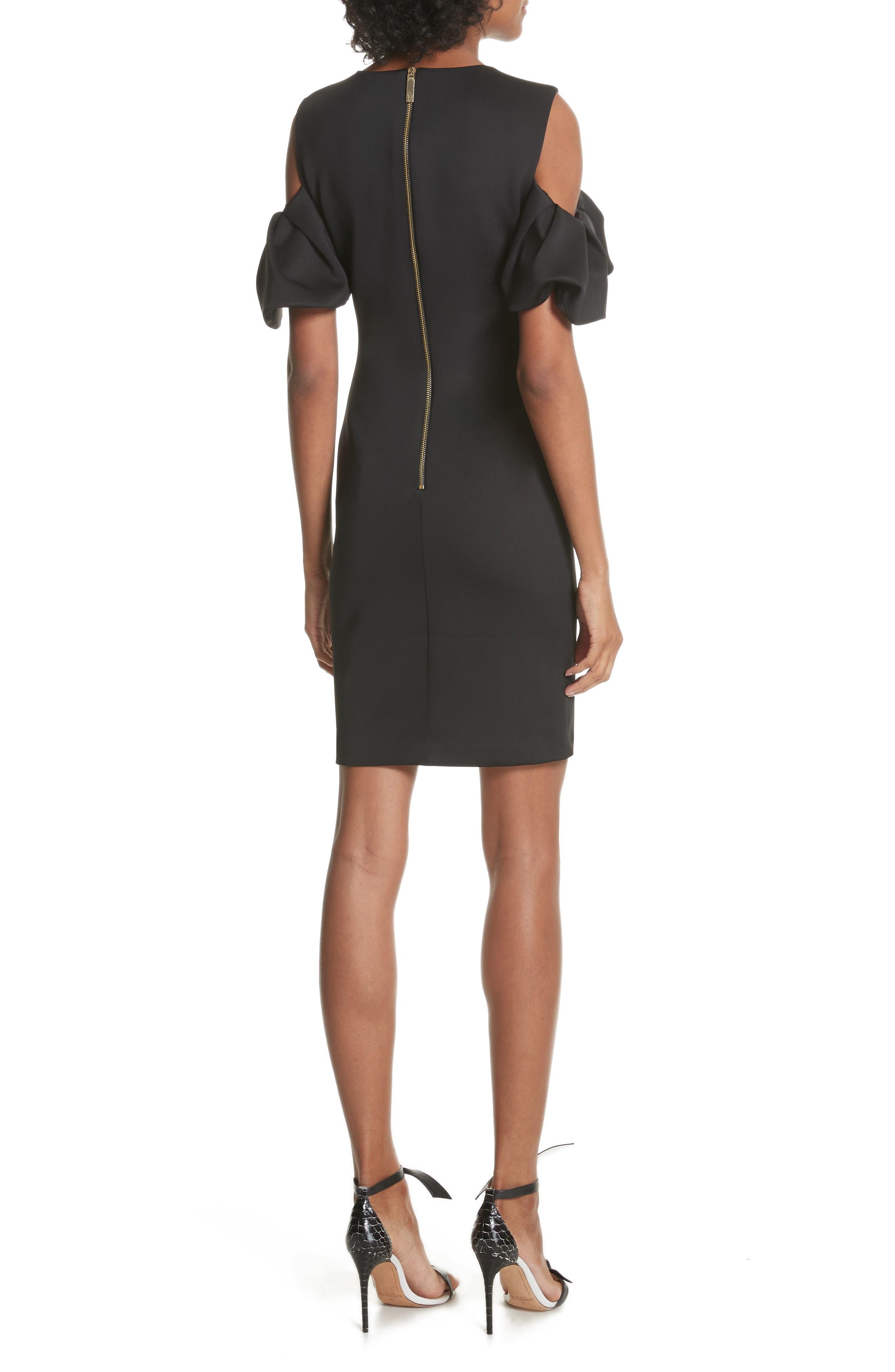 Salnie Cold Shoulder Sheath Dress,                             Alternate thumbnail 2, color,                             001