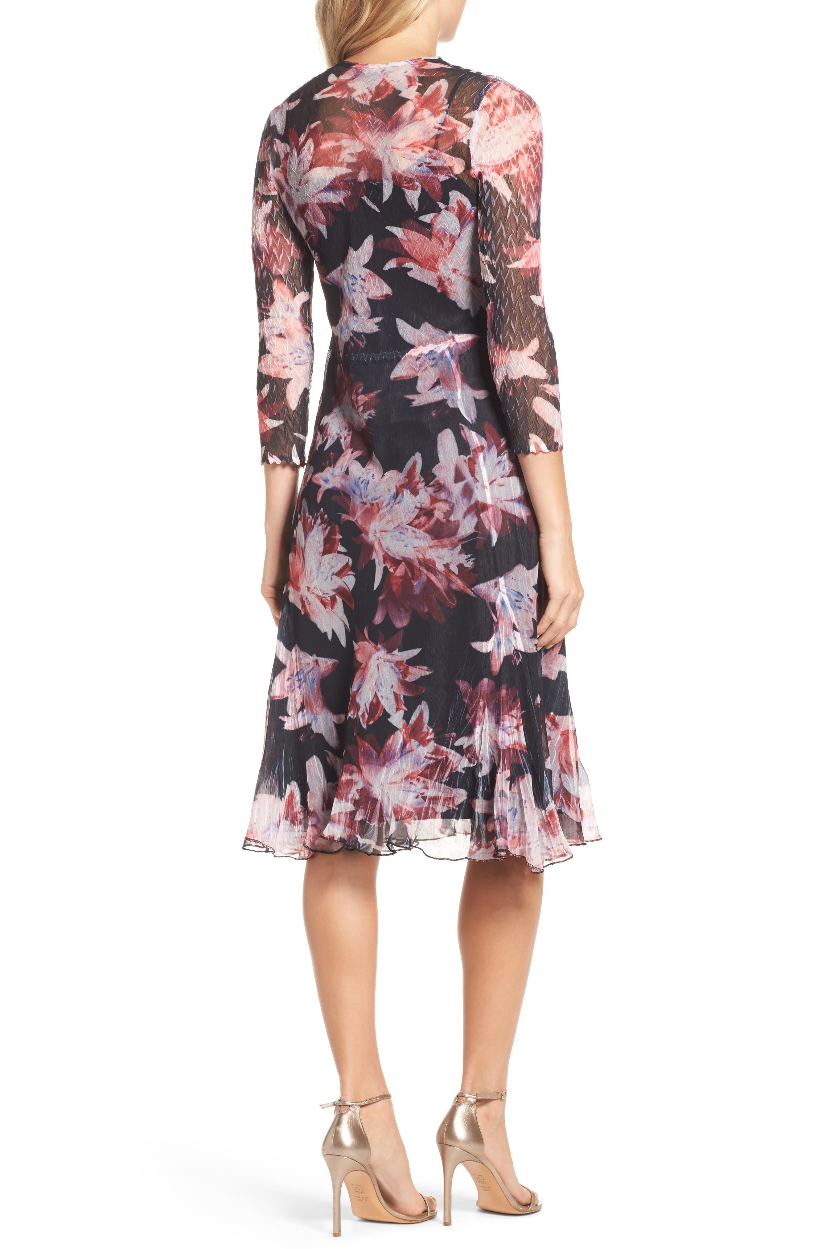 Print Chiffon A-Line Dress,                             Alternate thumbnail 2, color,                             007