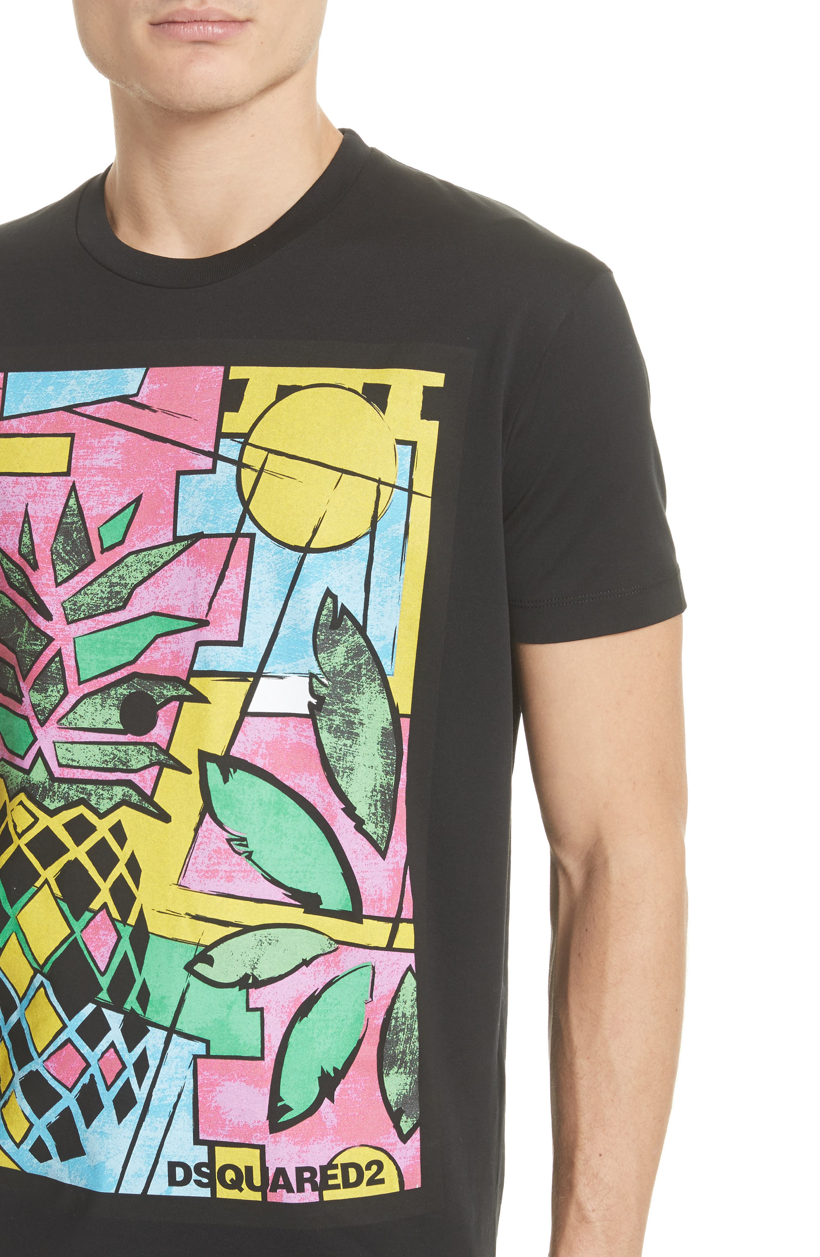 Pineapple Graphic T-Shirt,                             Alternate thumbnail 4, color,                             001