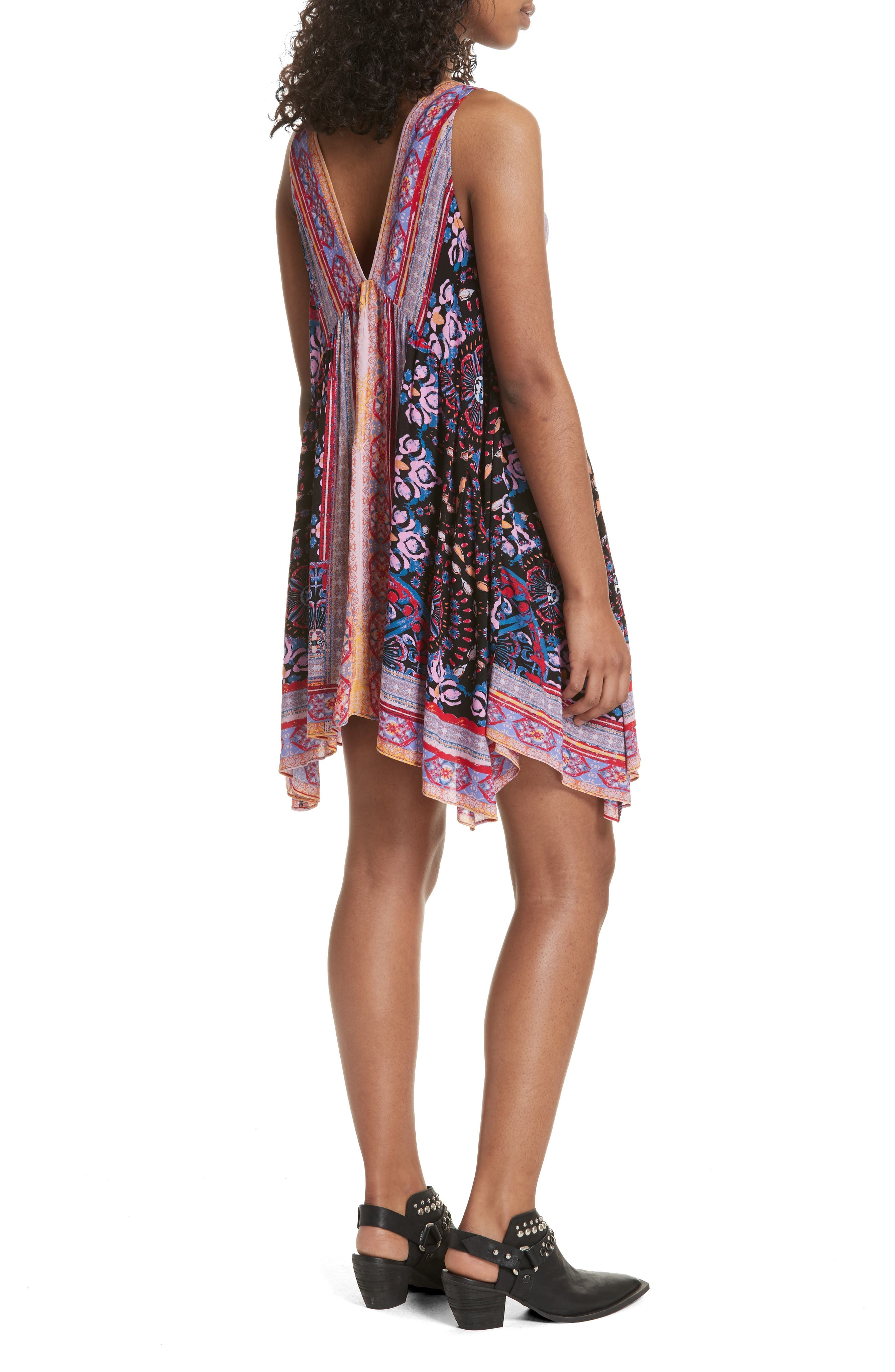 Gypsy Trapeze Slipdress,                             Alternate thumbnail 2, color,                             001