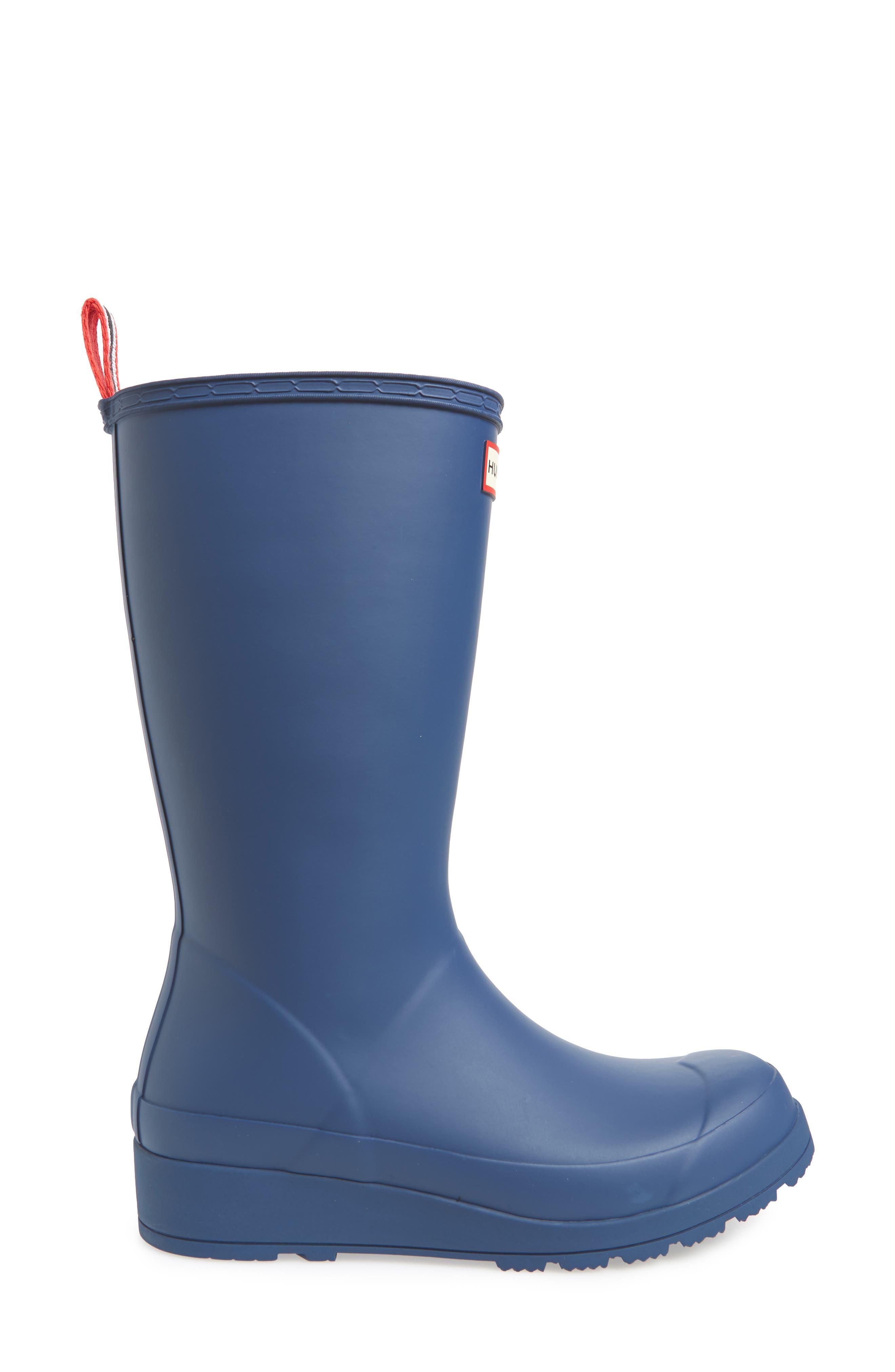 Original Play Tall Rain Boot,                             Alternate thumbnail 3, color,                             PEAK BLUE