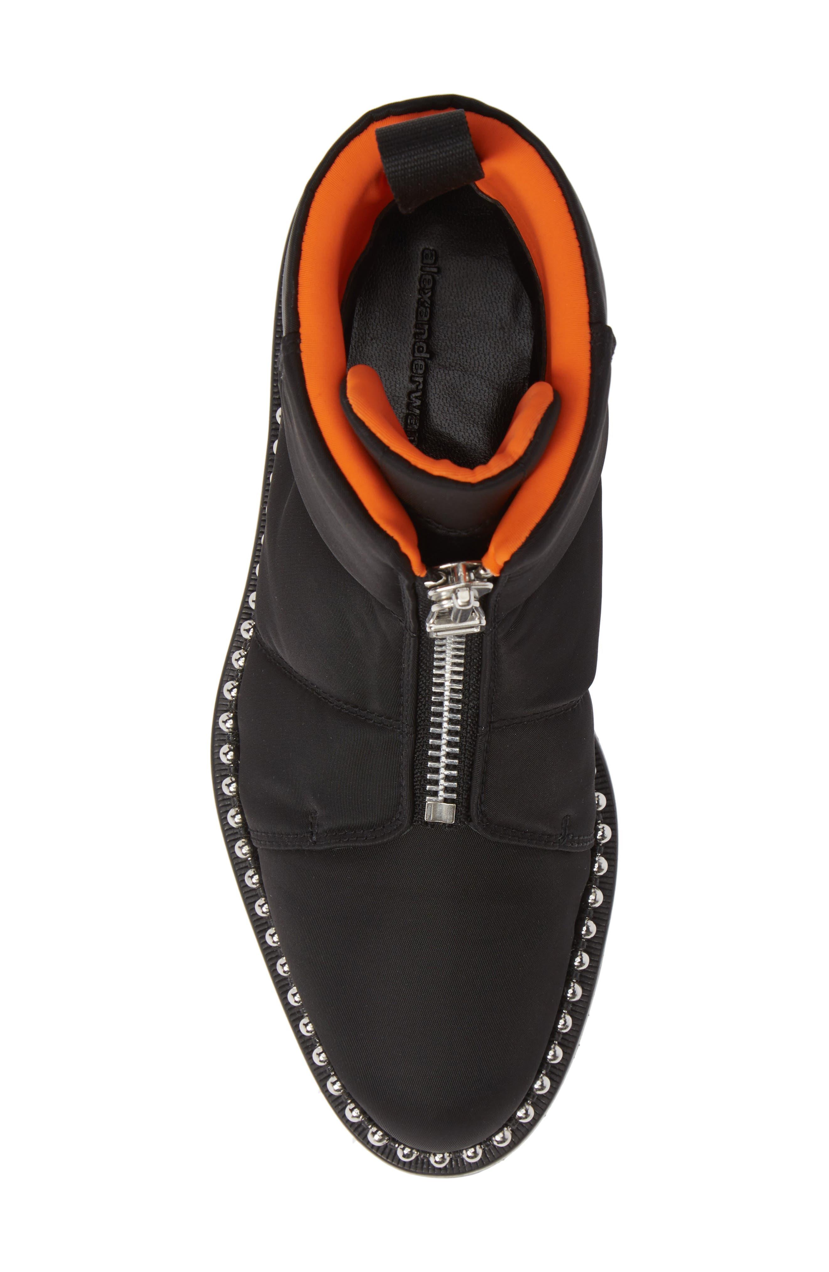 Cooper Studded Boot,                             Alternate thumbnail 5, color,                             BLACK