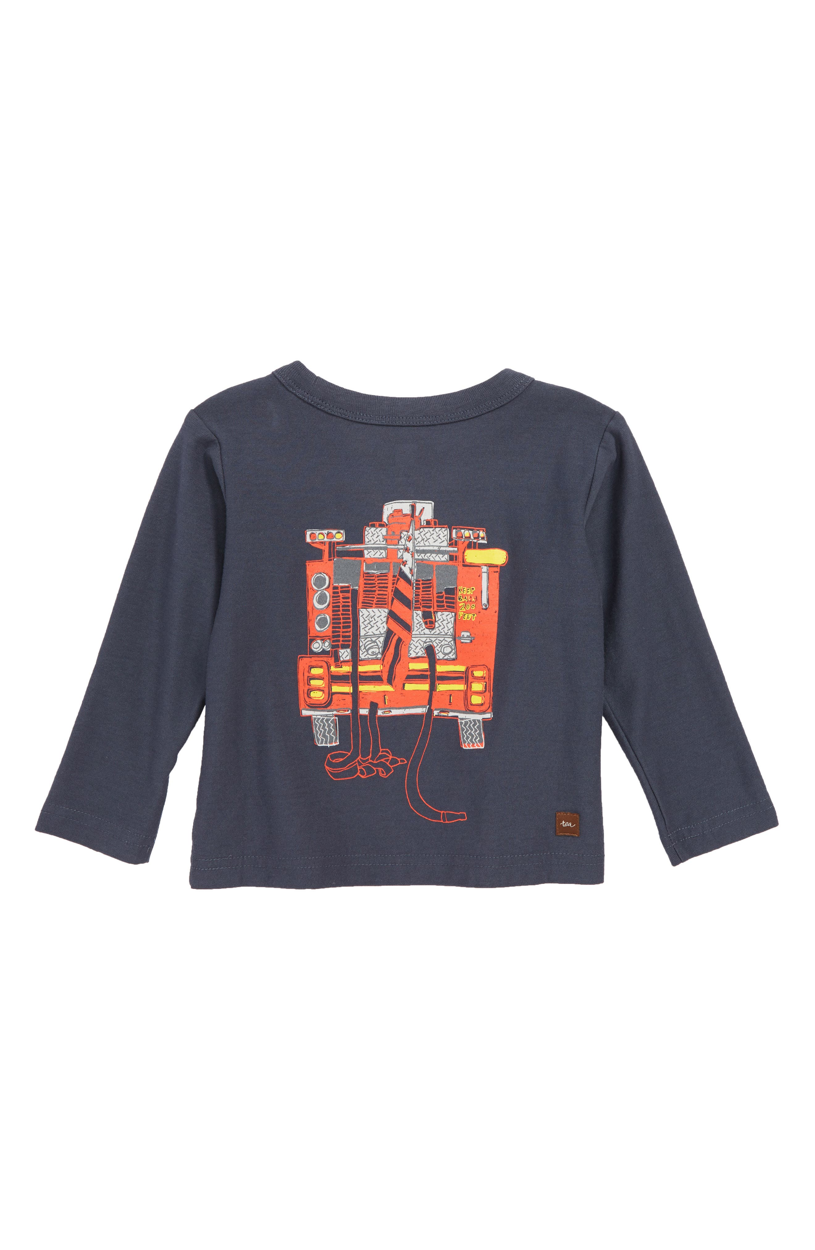 Fire Truck T-Shirt,                             Alternate thumbnail 2, color,                             INDIGO
