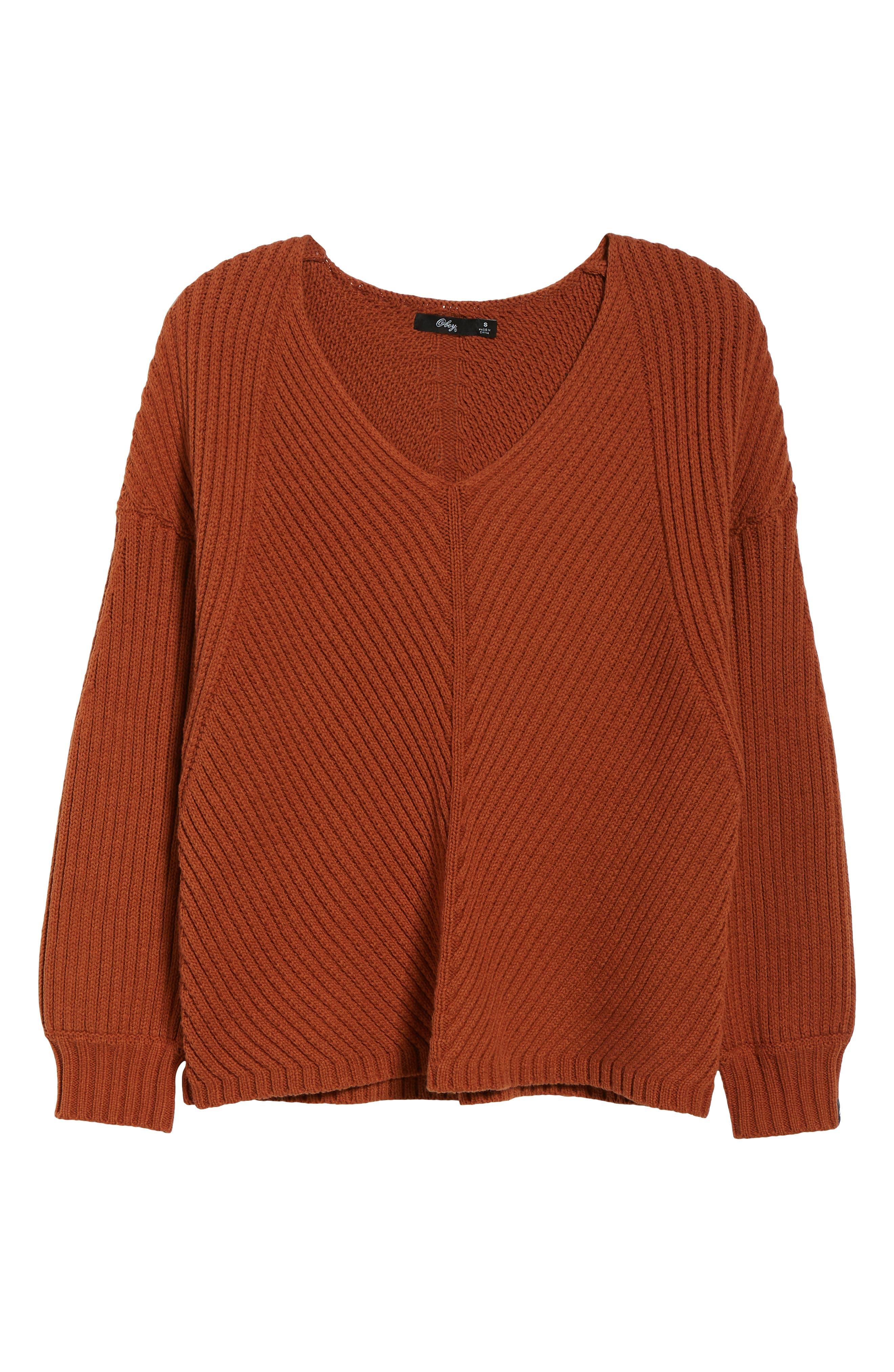 Eleanor Rib Knit Sweater,                             Alternate thumbnail 6, color,                             200