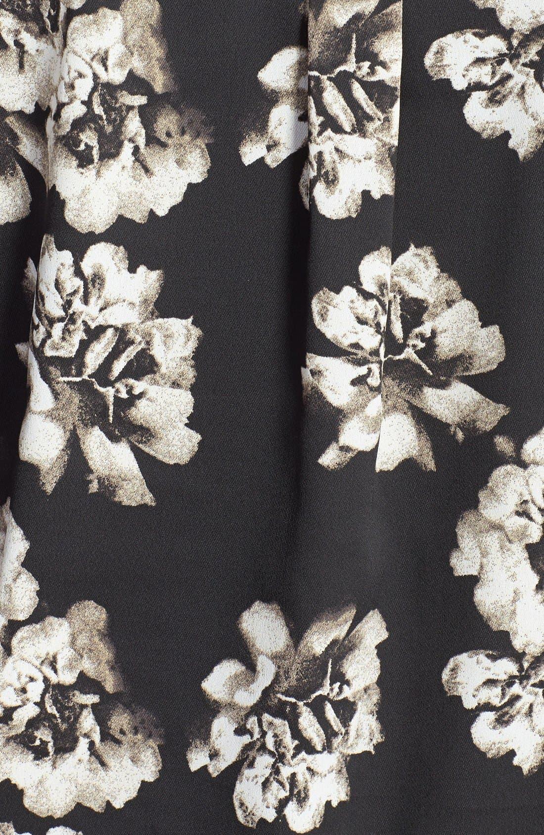Floral Print Blouse,                             Alternate thumbnail 3, color,                             002
