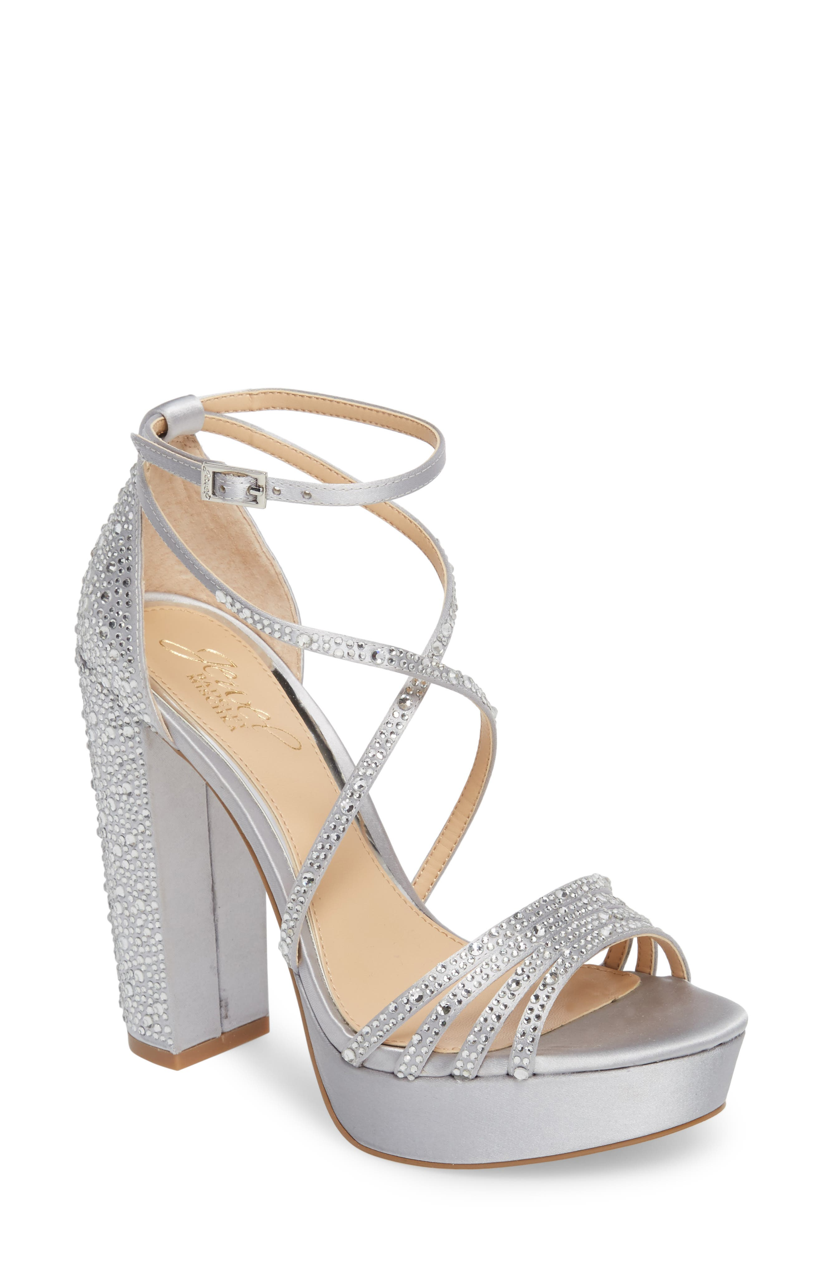 Tarah Crystal Embellished Platform Sandal,                             Main thumbnail 2, color,