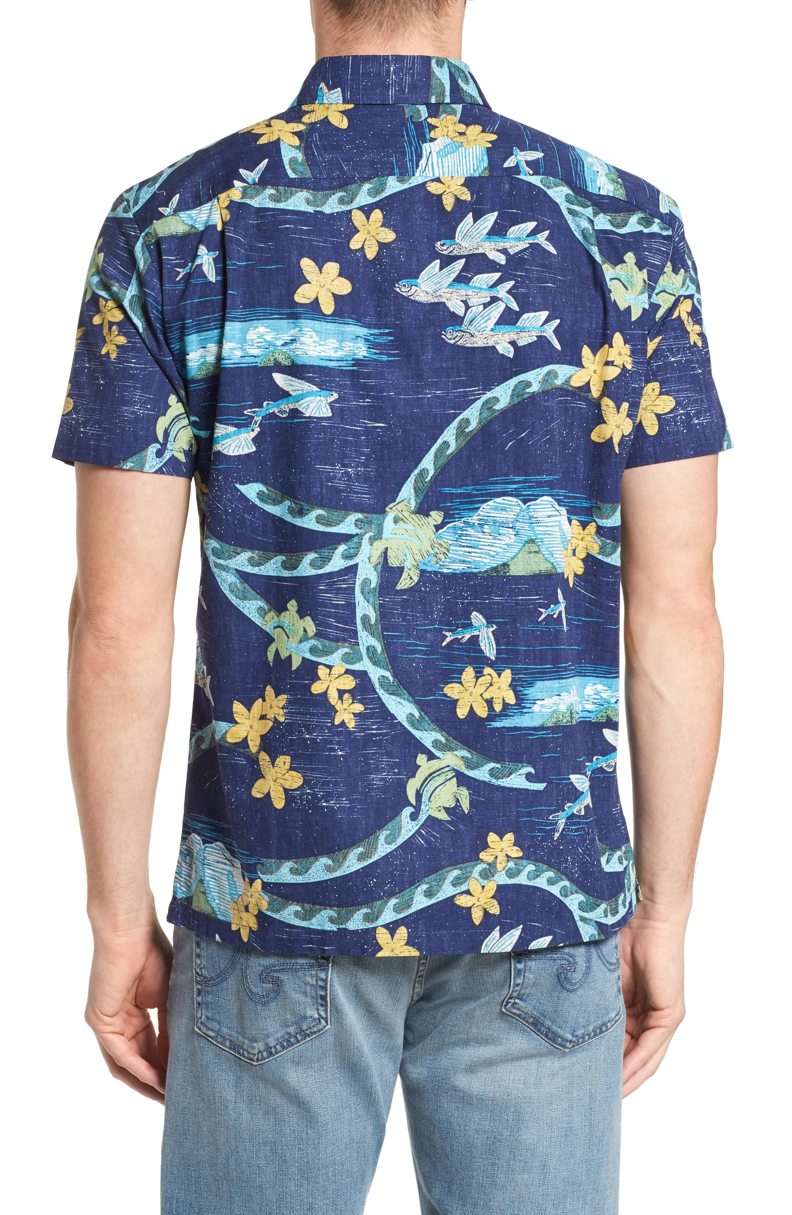 Sea Flight Trim Fit Sport Shirt,                             Alternate thumbnail 2, color,                             415