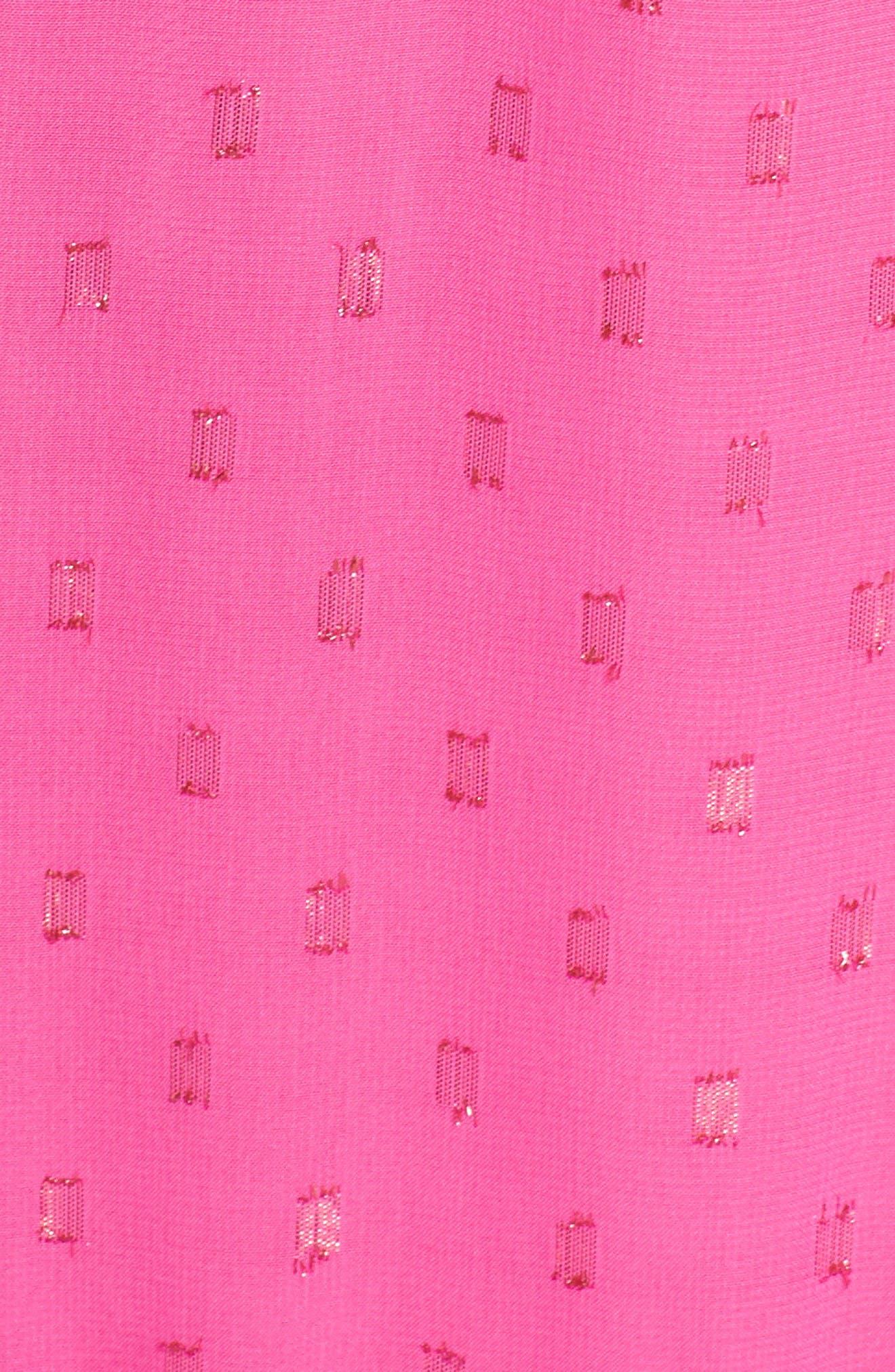 Bodega Bay Chiffon Shift Dress,                             Alternate thumbnail 6, color,                             BRILLIANT FUCHSIA