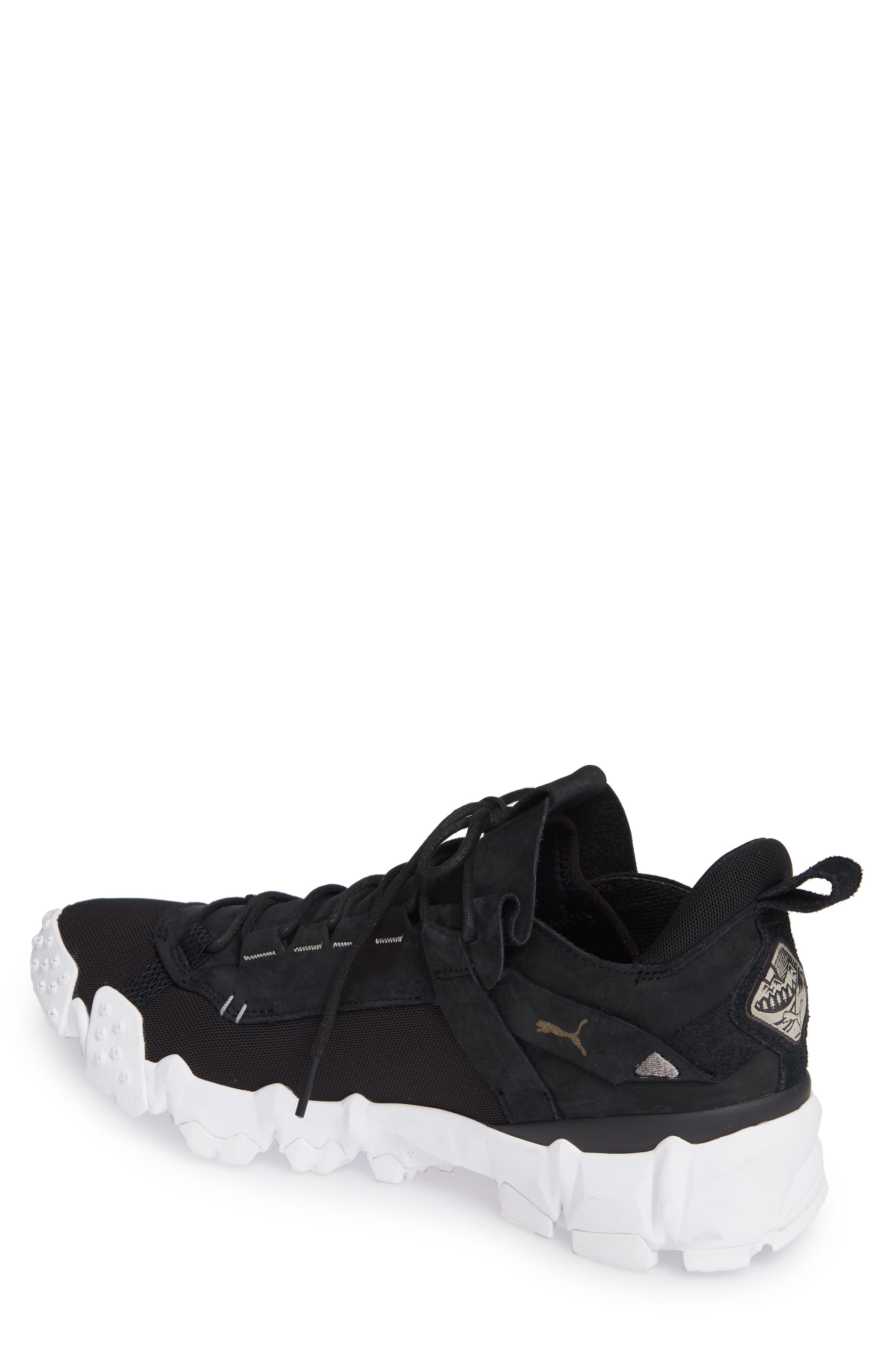 Trailfox Sneaker,                             Alternate thumbnail 2, color,                             BLACK/ WHITE
