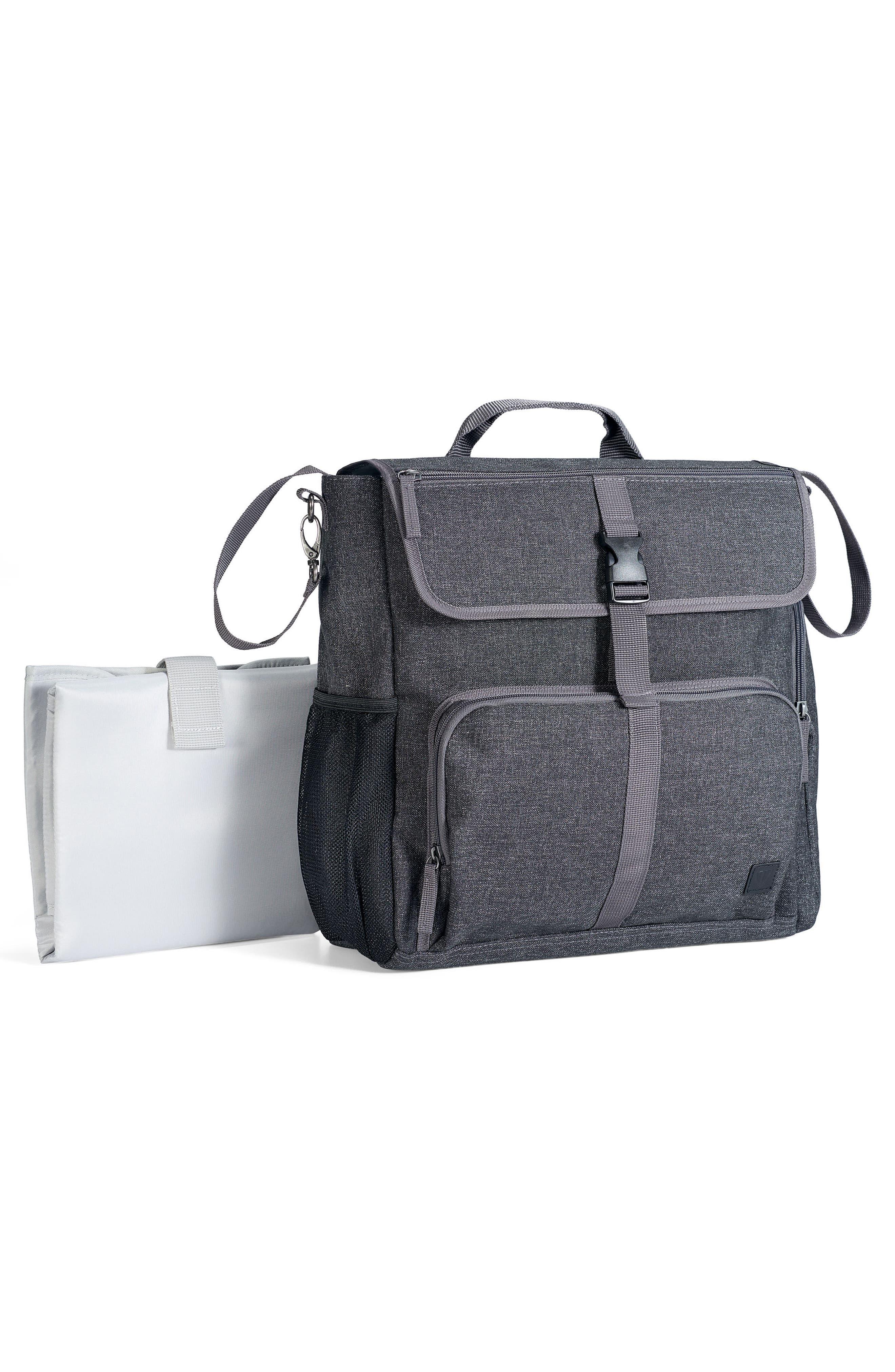 Convertible Diaper Backpack,                             Alternate thumbnail 6, color,                             001