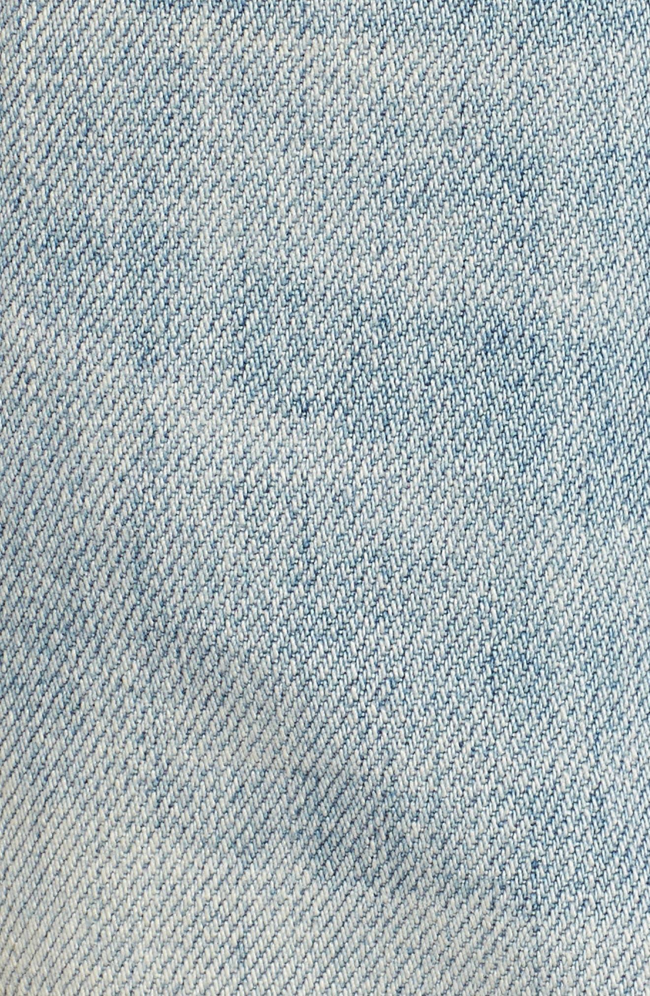 Embroidered Boyfriend Denim Shorts,                             Alternate thumbnail 5, color,                             420