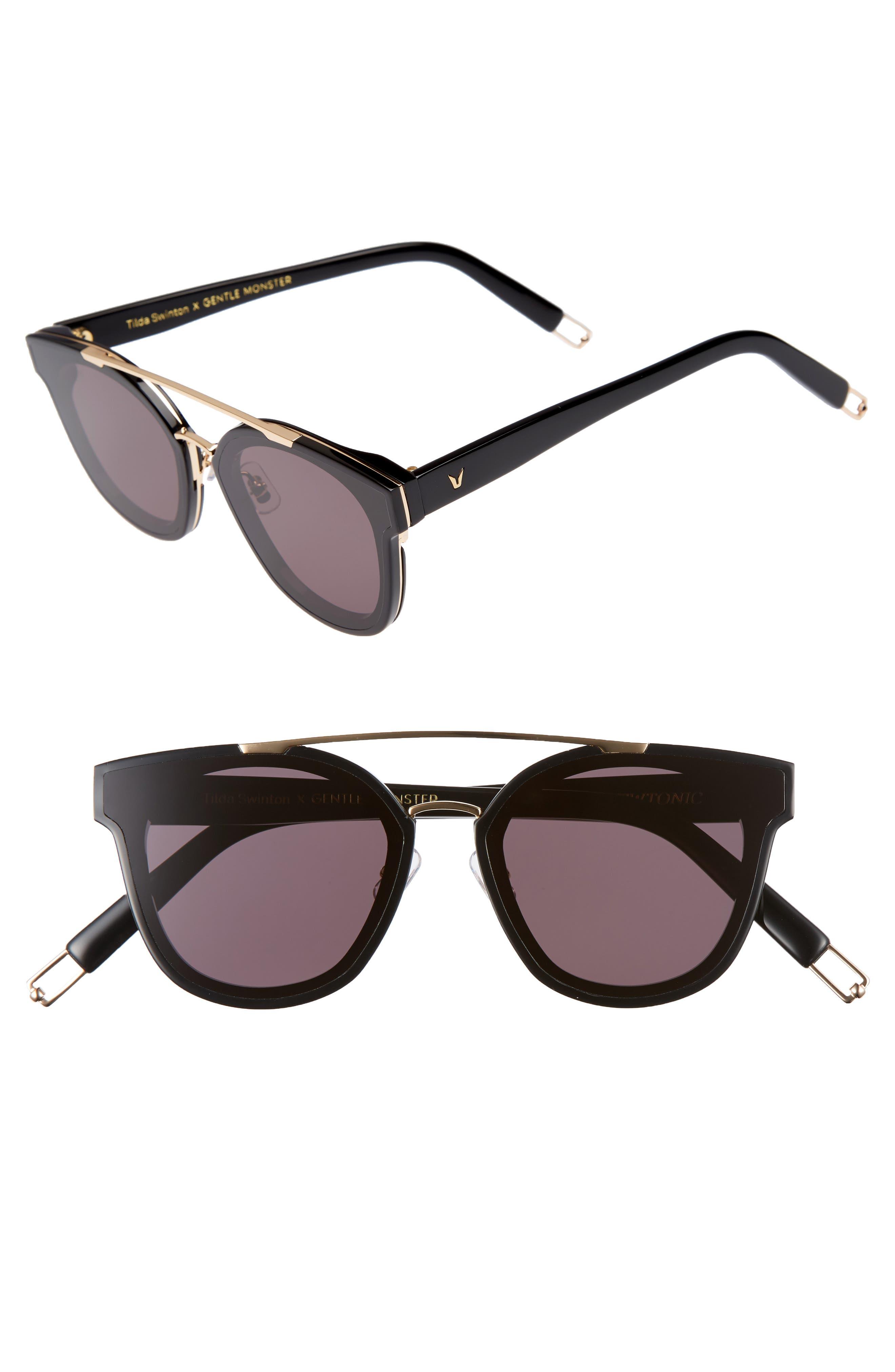 Tilda Swinton x Gentle Monster Newtonic 60mm Rounded Sunglasses,                             Main thumbnail 1, color,