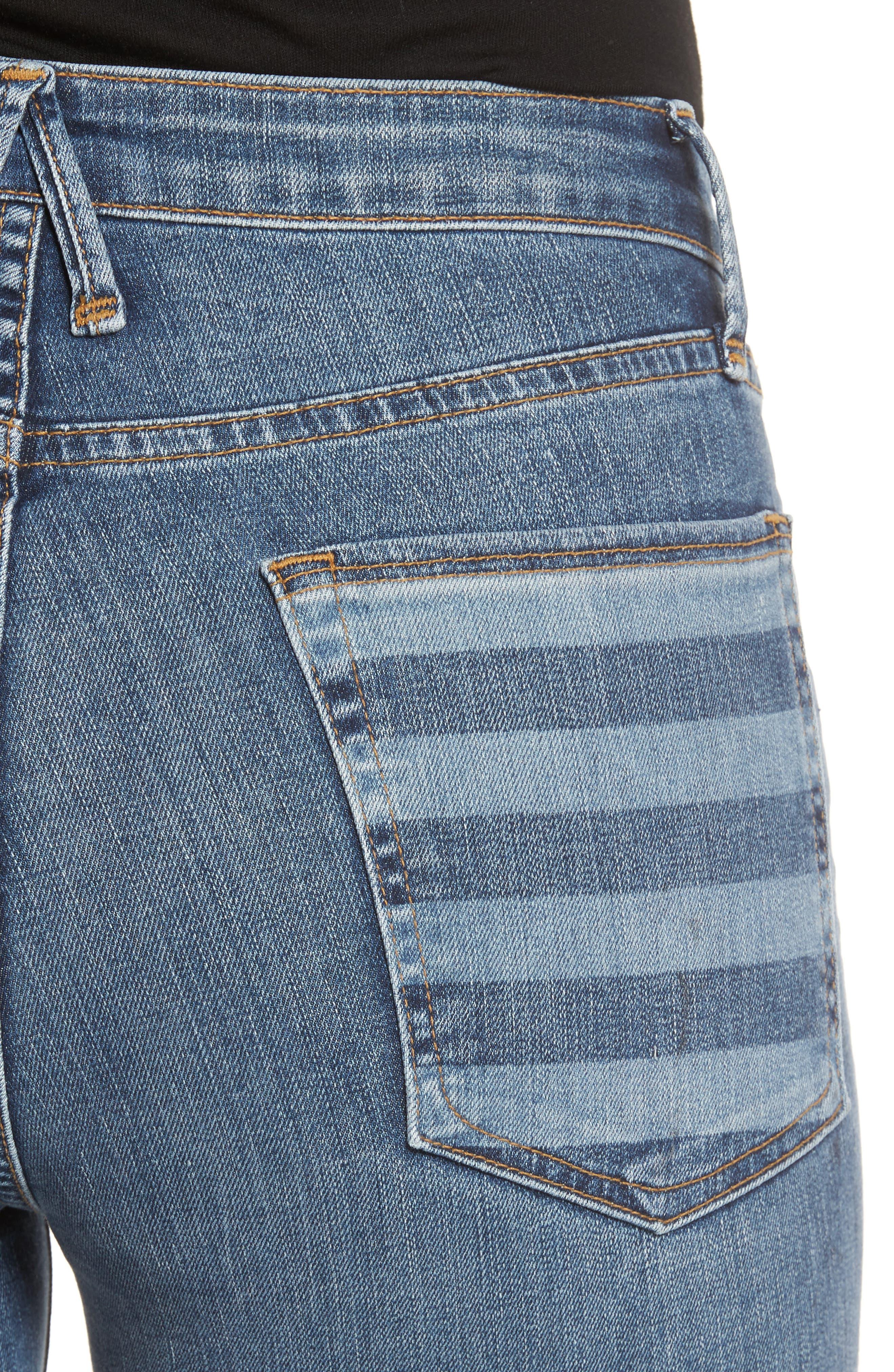 Good Legs High Waist American Flag Crop Skinny Jeans,                             Alternate thumbnail 4, color,