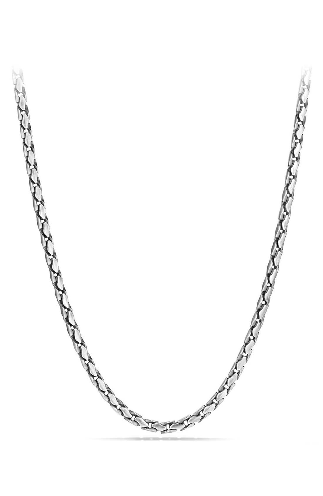 'Chain' Small Fluted Chain Necklace, 5mm,                             Main thumbnail 1, color,                             SILVER
