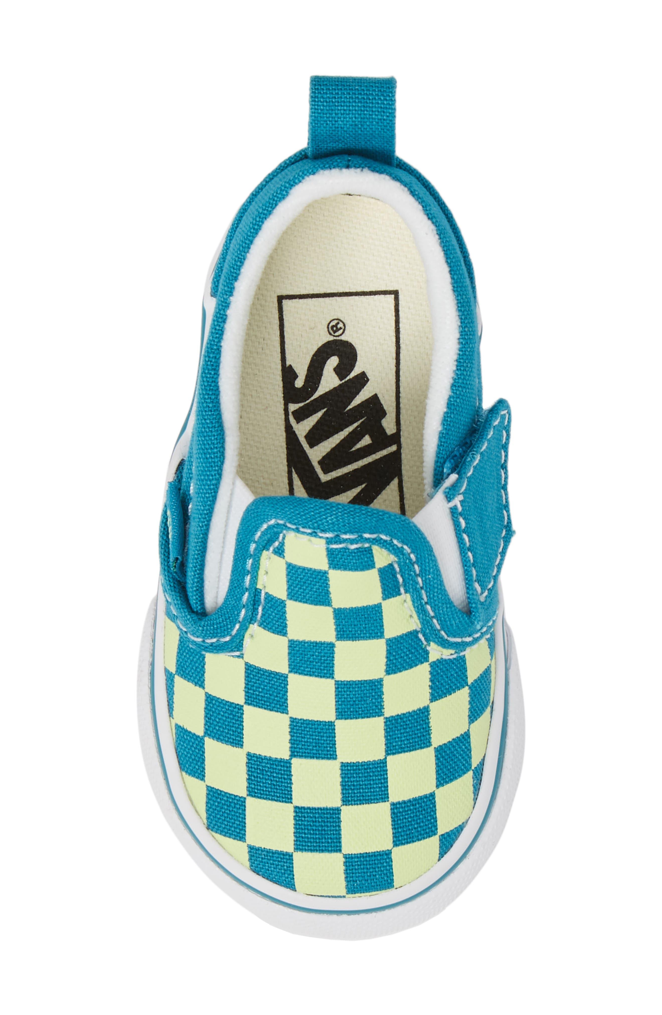 Slip-On Crib Shoe,                             Alternate thumbnail 5, color,                             ENAMEL BLUE/ SHARP GREEN