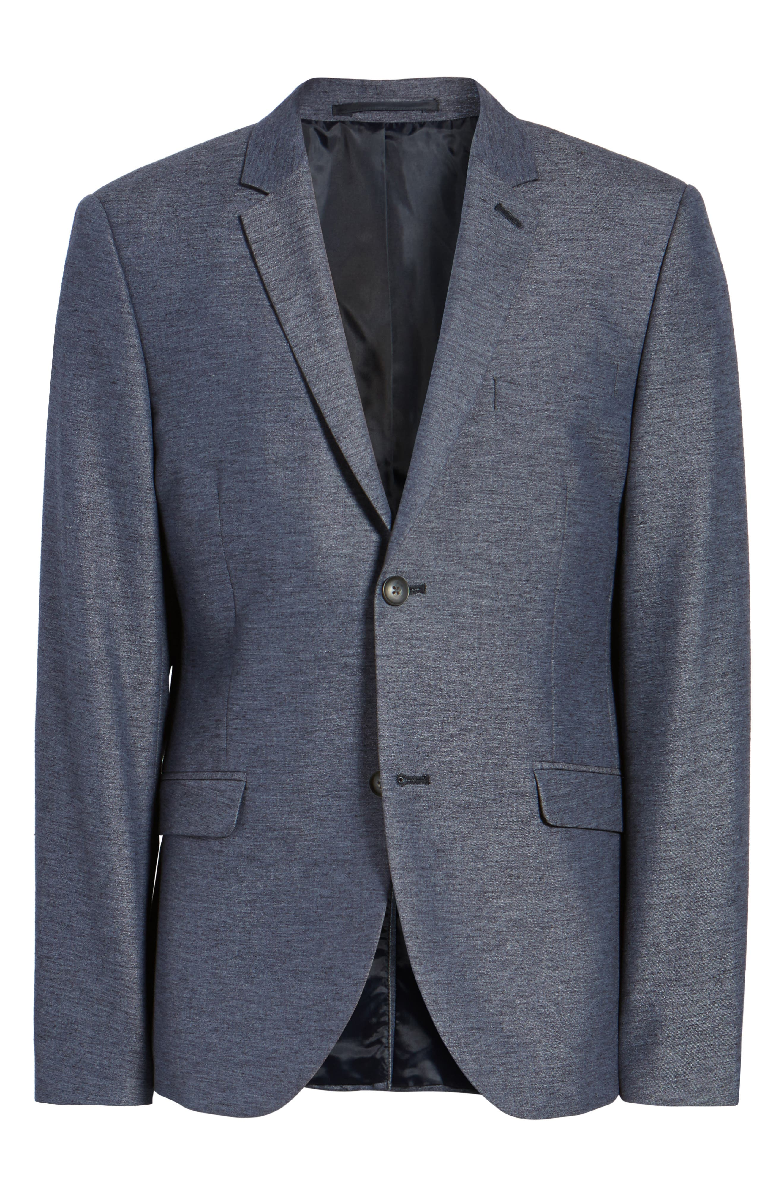 Slim Fit Jersey Blazer,                             Alternate thumbnail 5, color,                             400