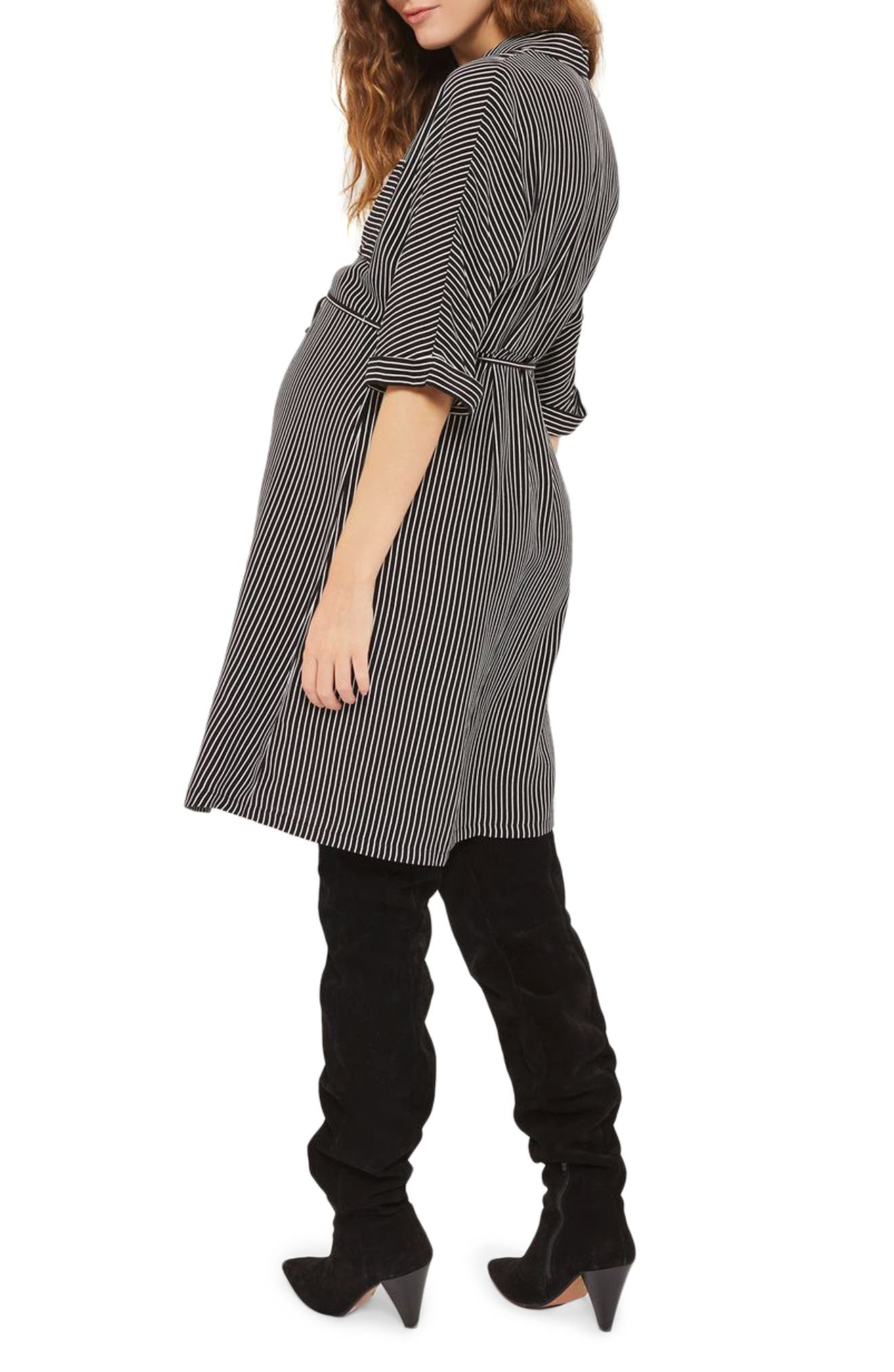 Kady Stripe Maternity Shirtdress,                             Alternate thumbnail 2, color,                             001