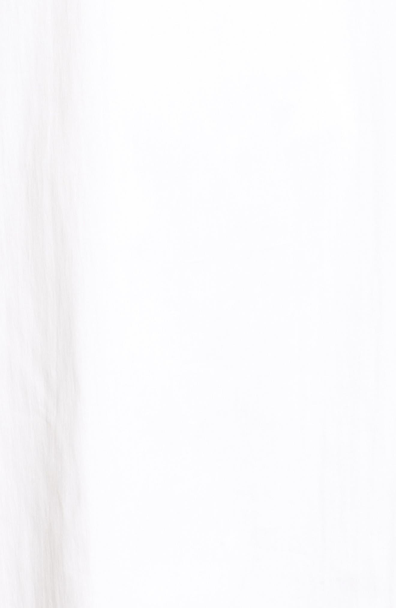 Tie Back Ruffle Sleeve Dress,                             Alternate thumbnail 5, color,                             100