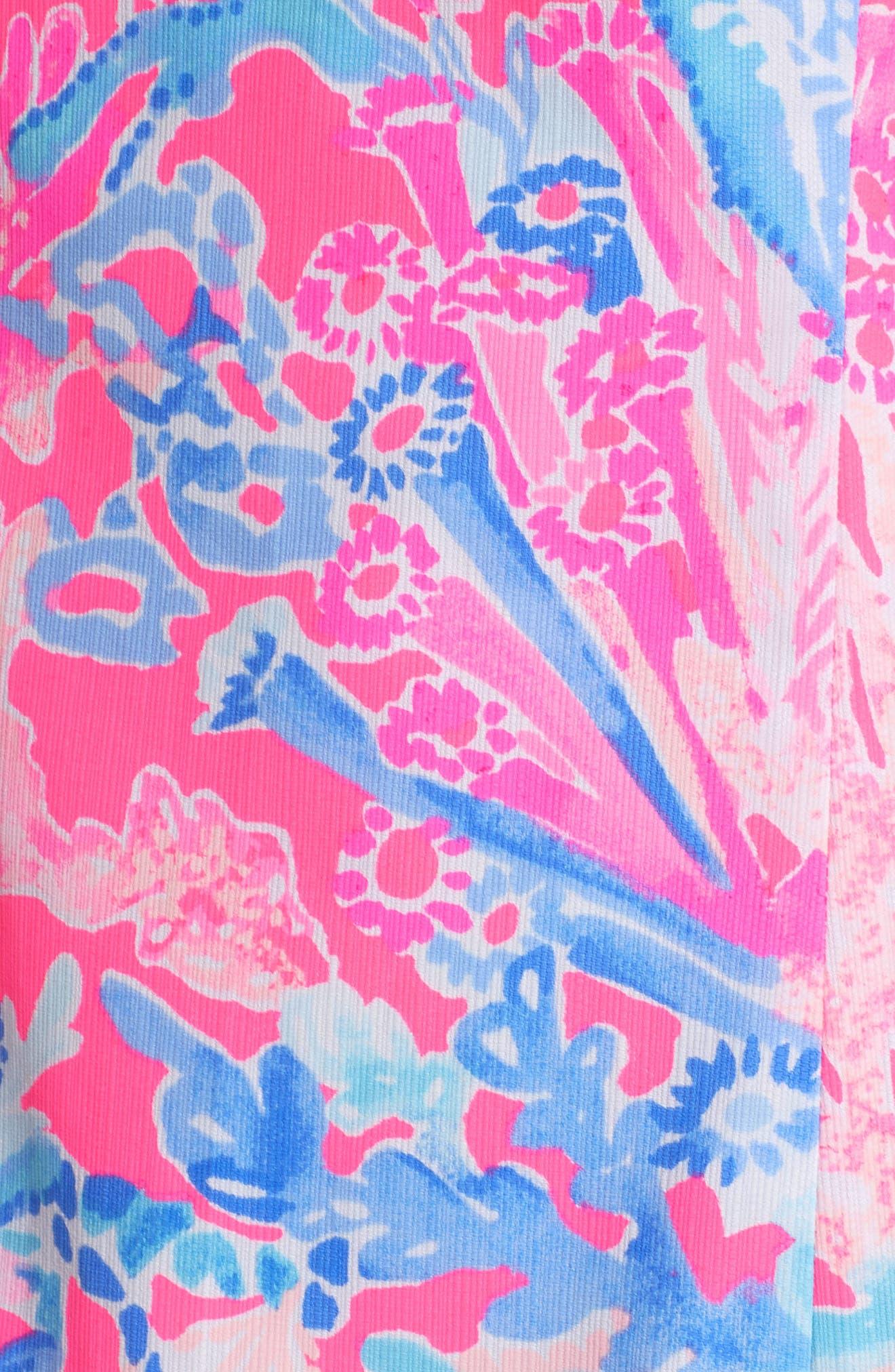 Mila Sheath Dress,                             Alternate thumbnail 6, color,                             LIGHT PASCHA PINK AQUADESIAC