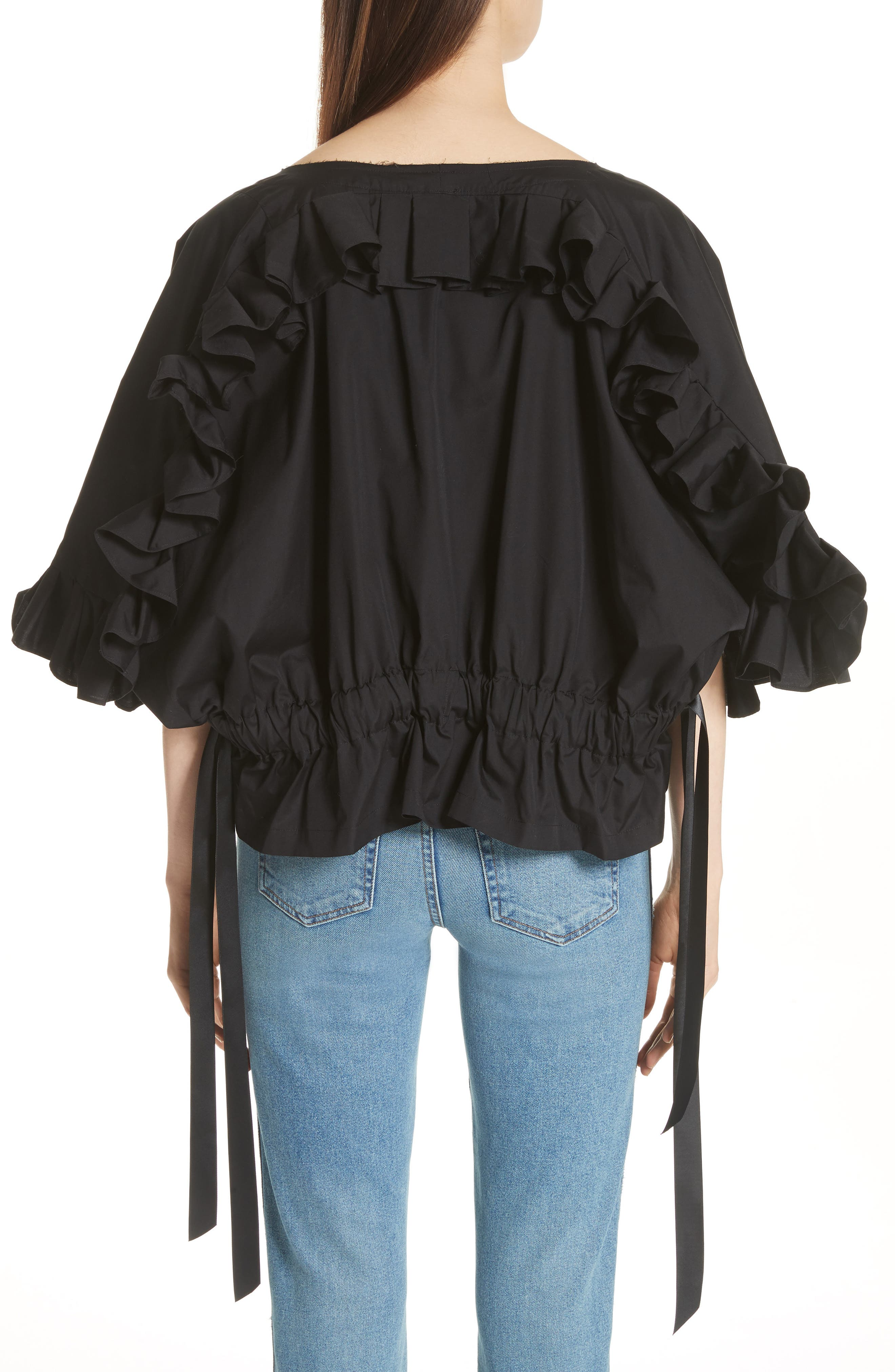 Crop Ruffle Top,                             Alternate thumbnail 3, color,