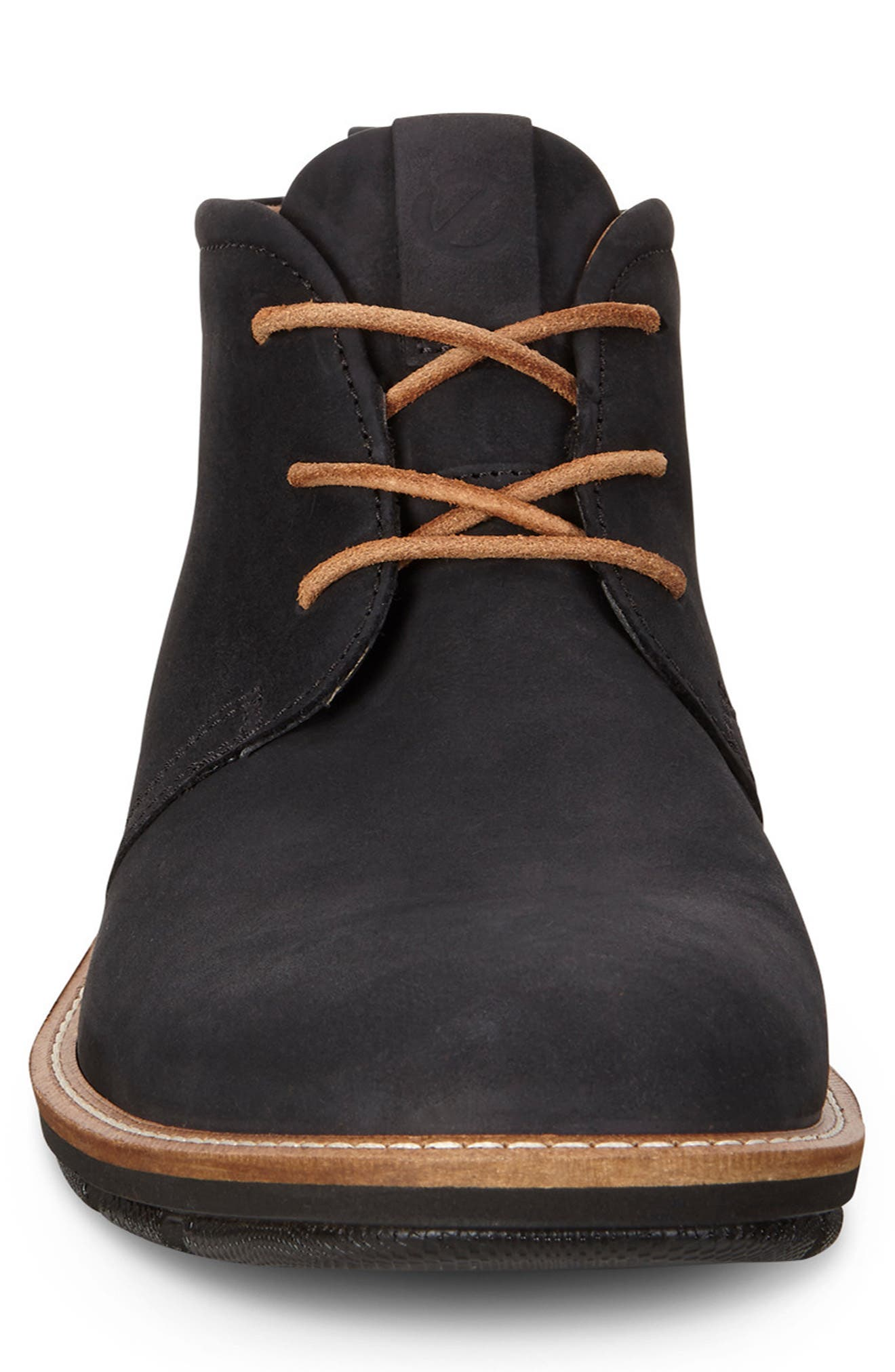 'Jeremy Hybrid' Plain Toe Boot,                             Alternate thumbnail 3, color,                             BLACK LEATHER