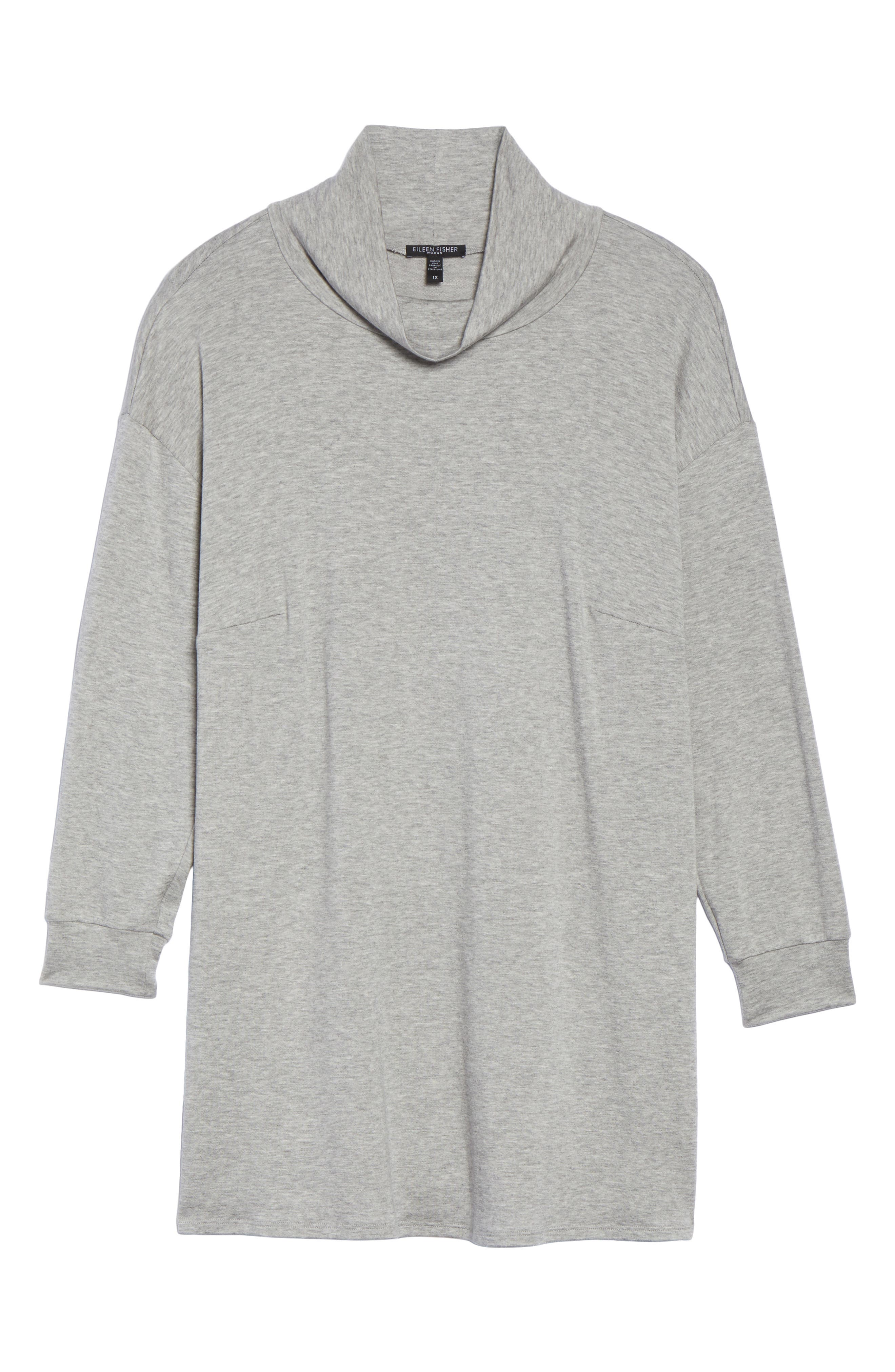 Funnel Neck Jersey Tunic,                             Alternate thumbnail 17, color,