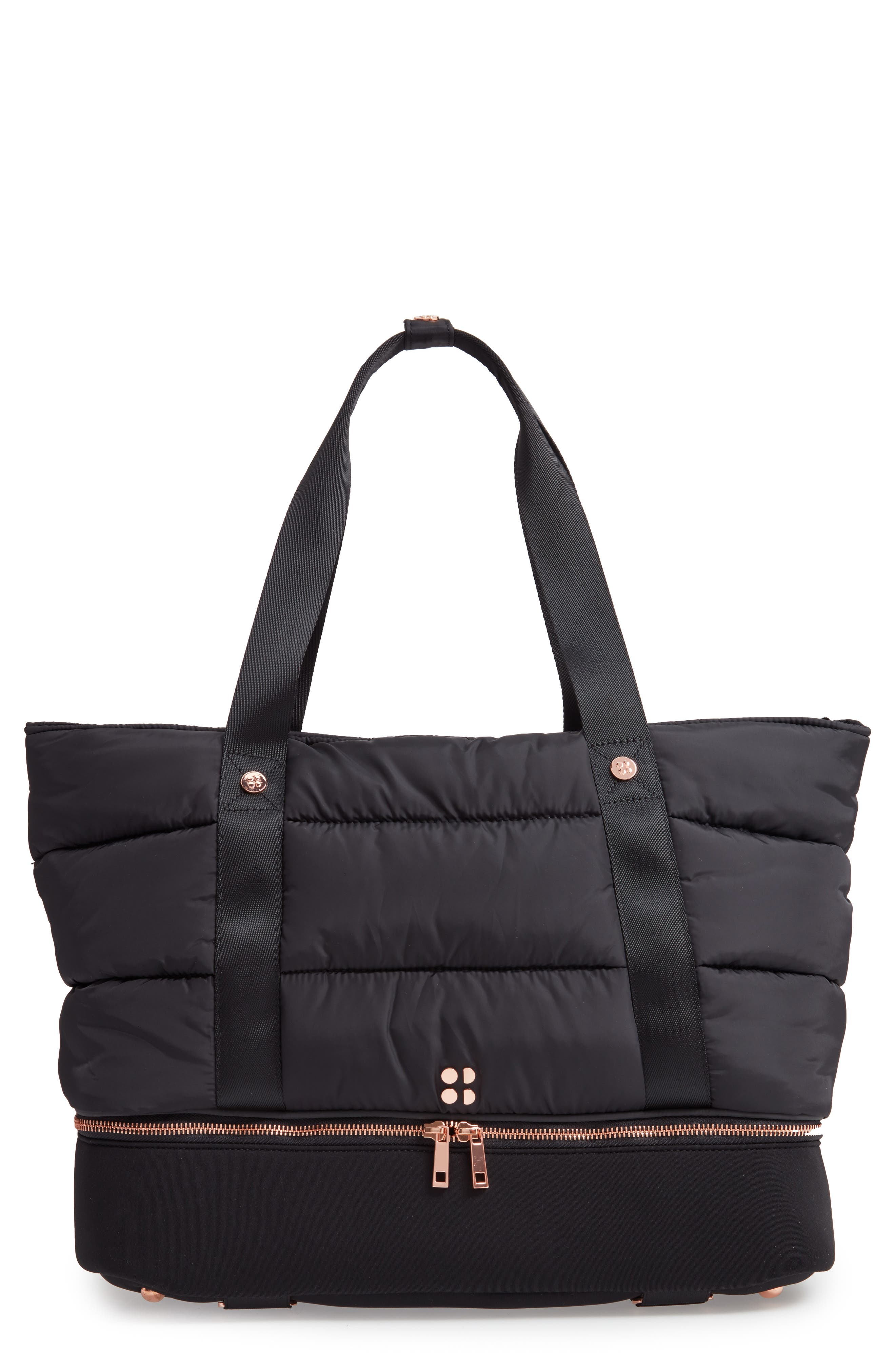 Luxe Gym Bag,                             Main thumbnail 1, color,                             001