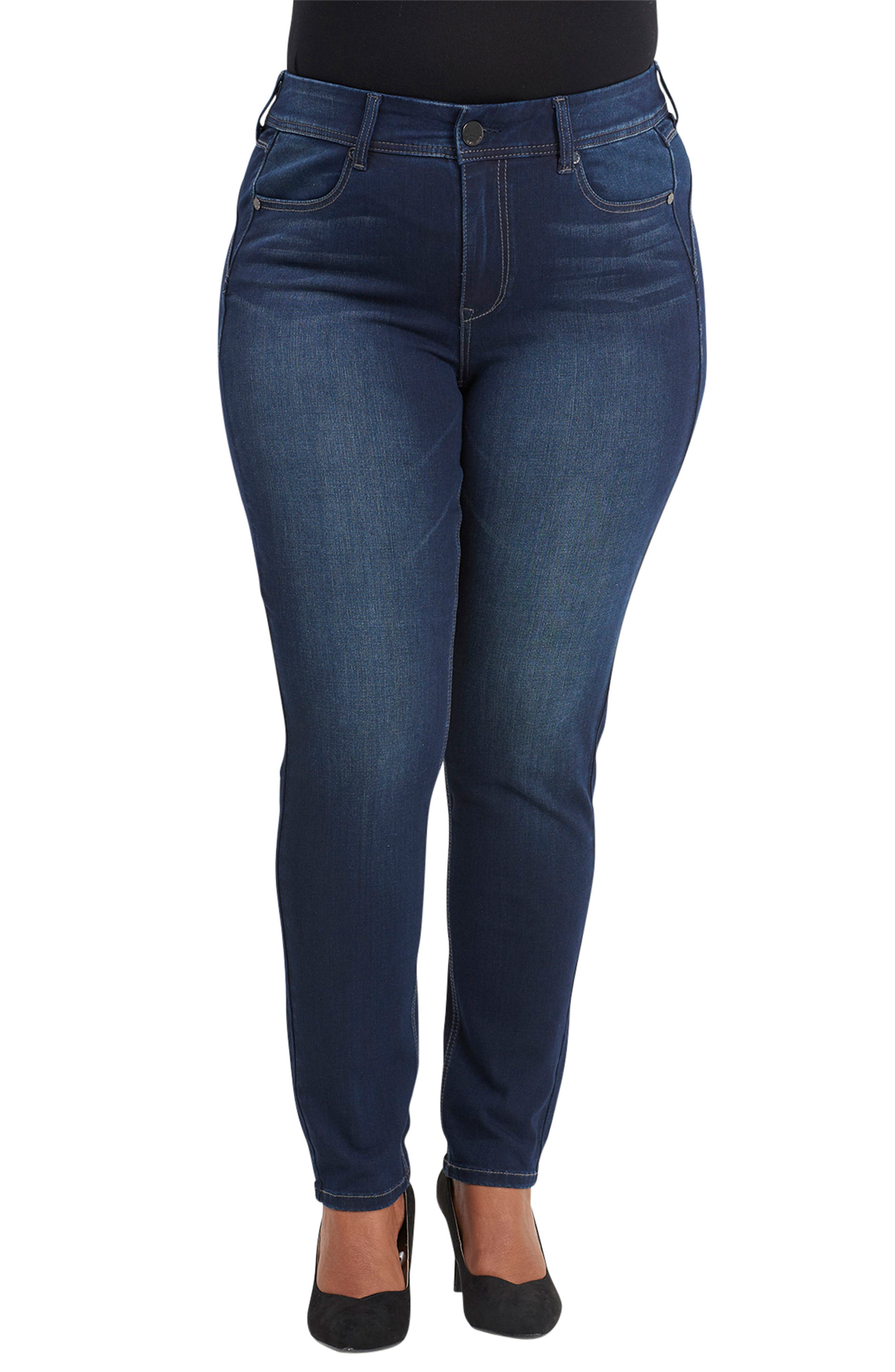 Bootyshaper Skinny Jeans,                         Main,                         color, BLUE